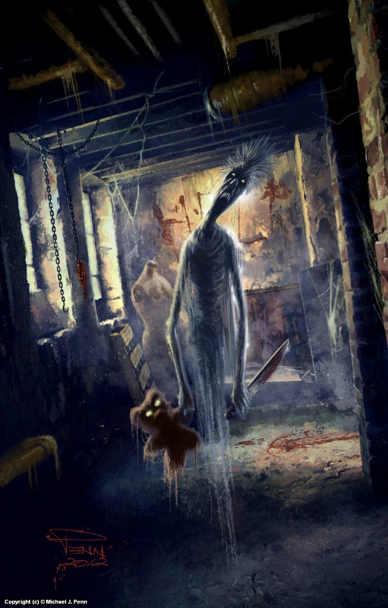 The Thing in the Basement Artwork by Mike Penn