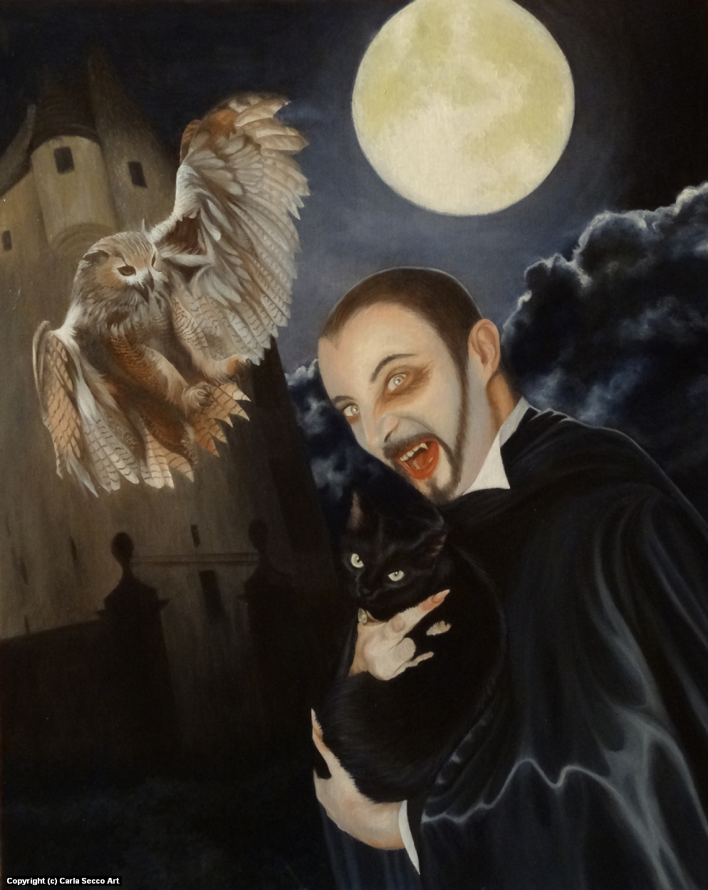 Don't touch my pets! Artwork by Carla Secco