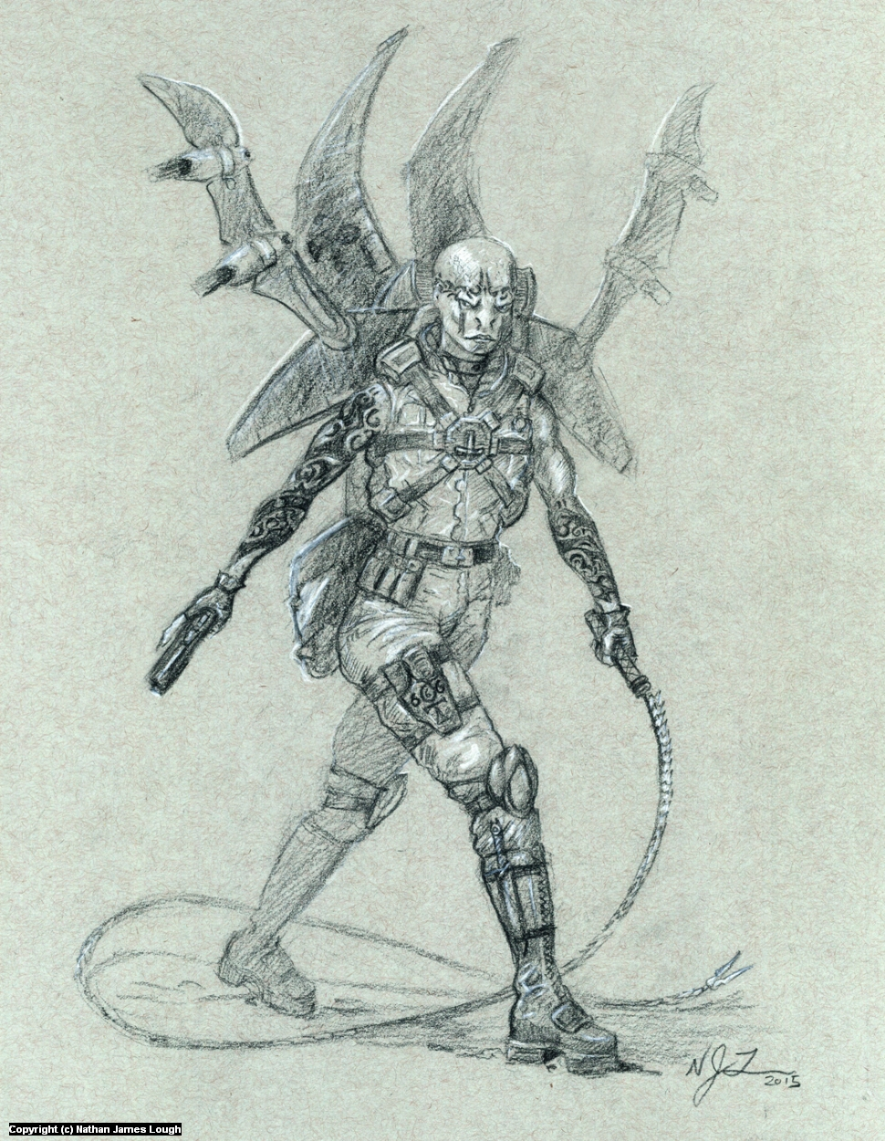 Viper Airborne Infiltration unit Artwork by Nathan  Lough