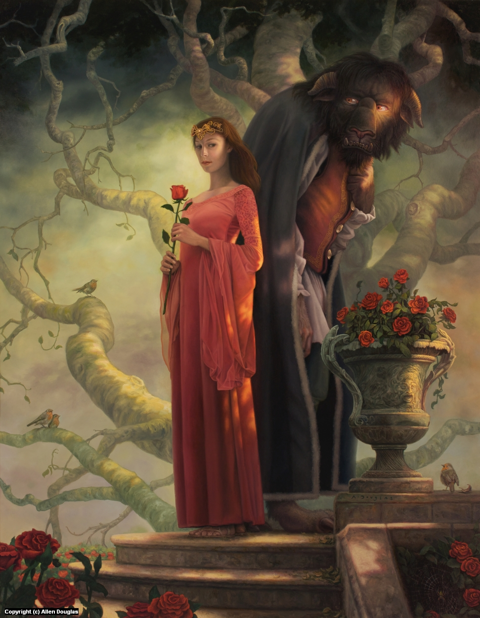 Beauty and the Beast Artwork by Allen Douglas