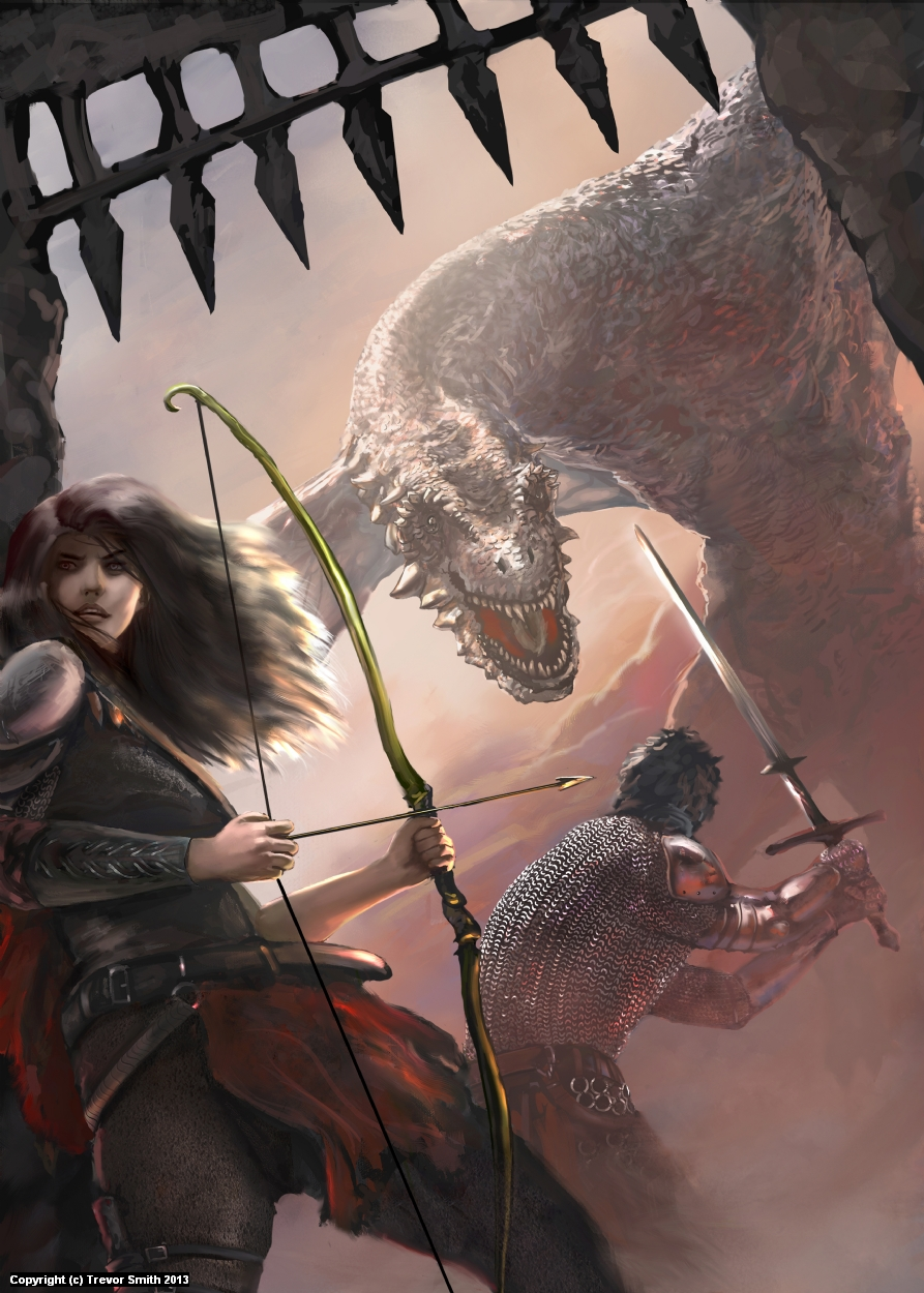 Heroes Against Darkness Artwork by Trevor Smith