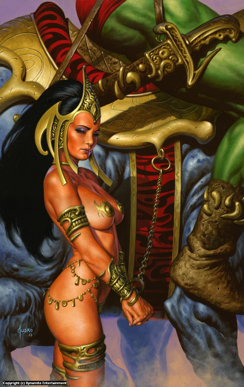 Captive Princess  Artwork by Joe Jusko