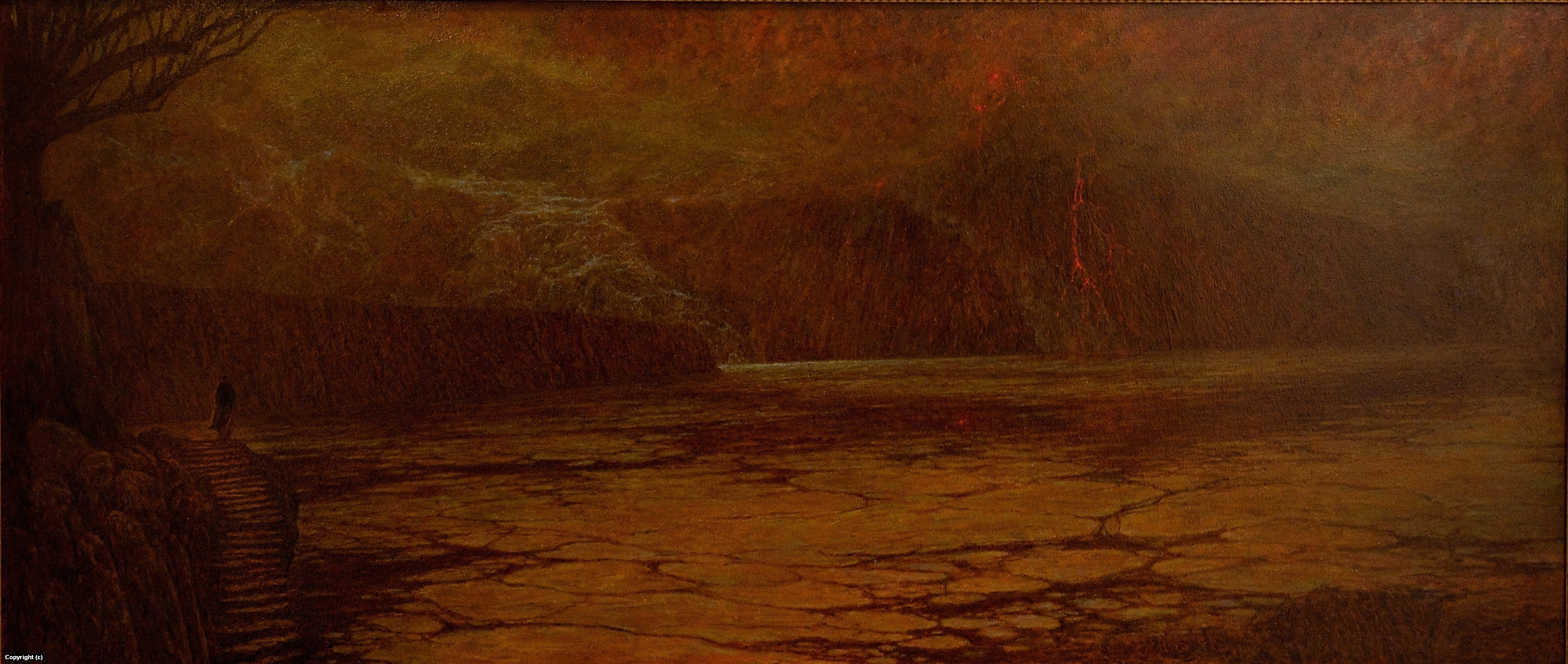 Dante on the banks of the River Styx Artwork by marc fishman