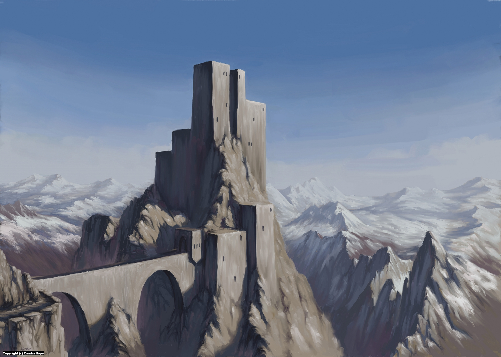 Castle Artwork by Candra Hope