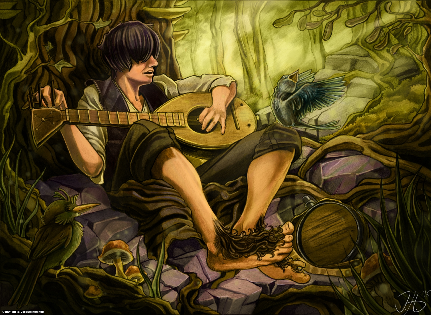 Holdifons, The Bard Artwork by Jacqueline  Hines