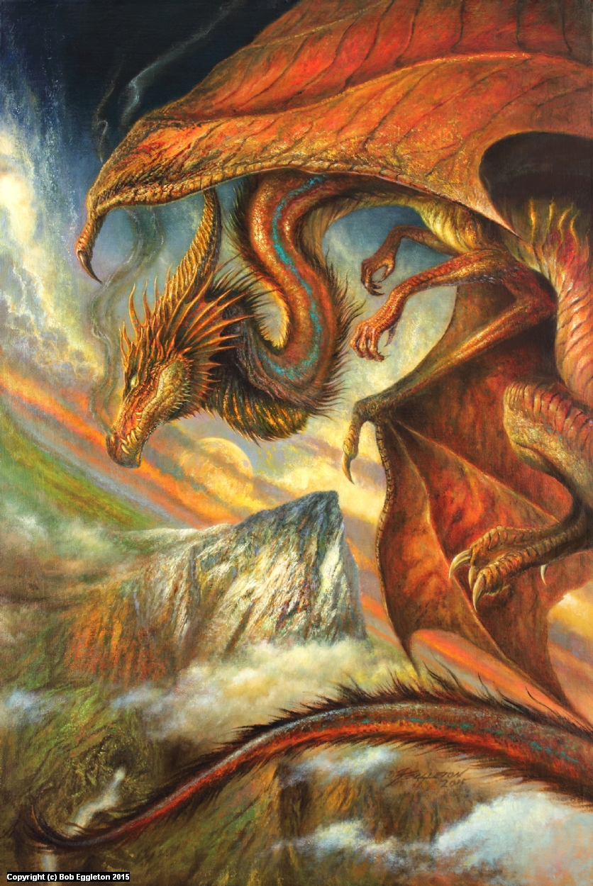 SMAUG AT THE LONELY MOUNTAIN Artwork by Bob Eggleton