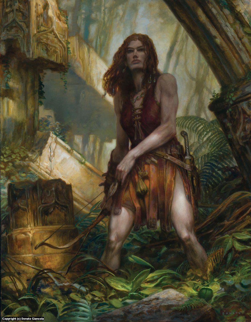Red Sonya - Hunting Artwork by Donato Giancola