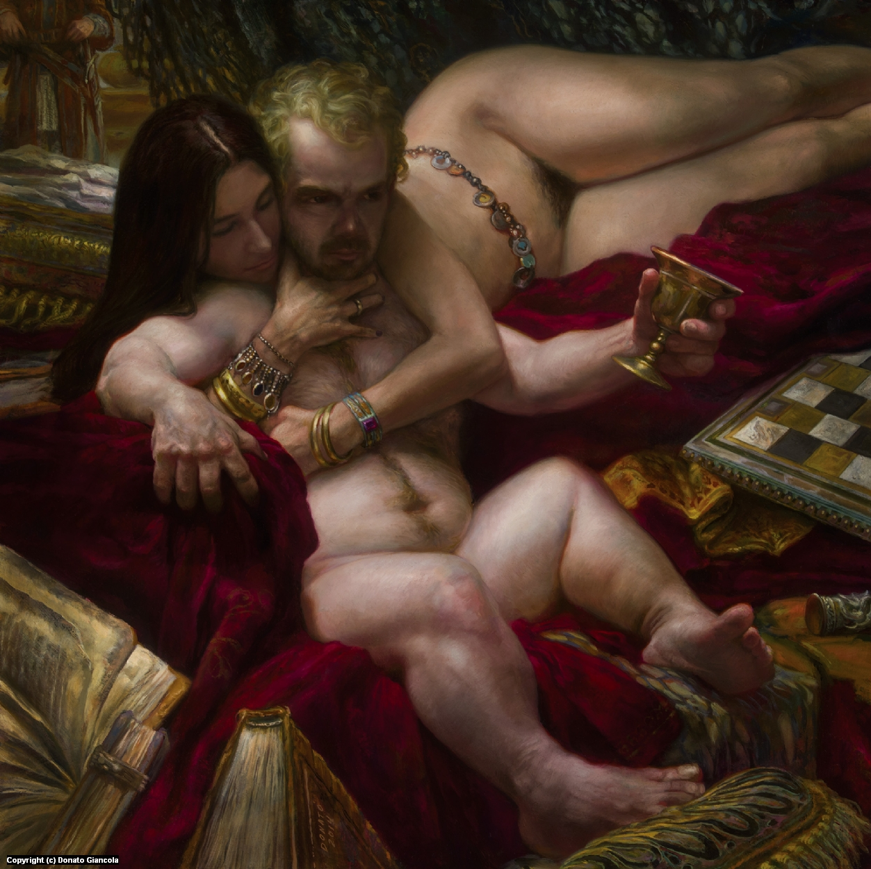 Tyrion and Shae Artwork by Donato Giancola