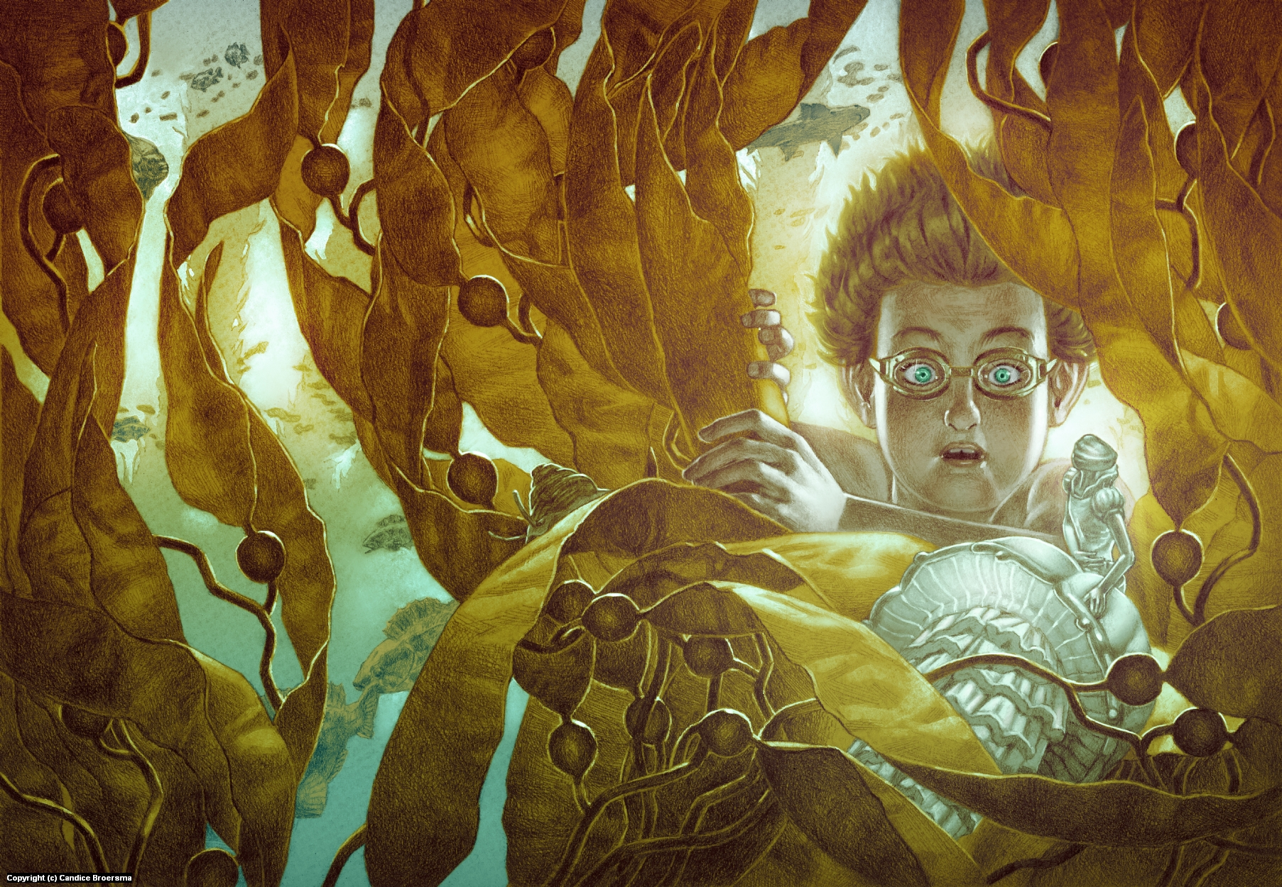 In the Kelp Forest Artwork by Candice Broersma