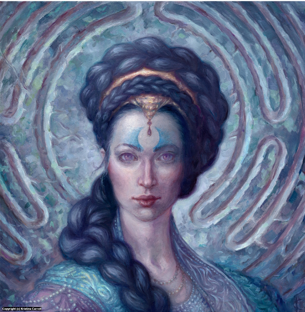 Mage of the Labyrinth Artwork by Kristina Carroll