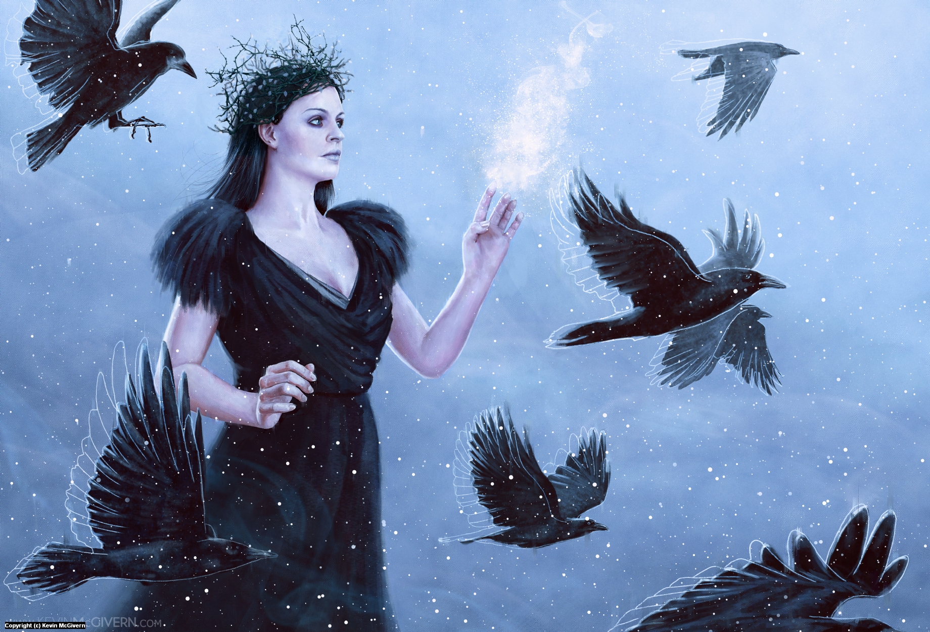 Raven Queen Artwork by Kevin McGivern