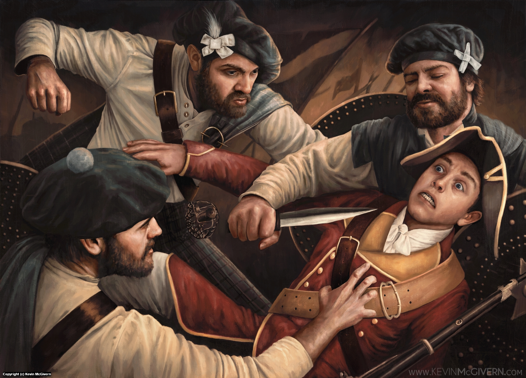 The Redcoat's Demise Artwork by Kevin McGivern