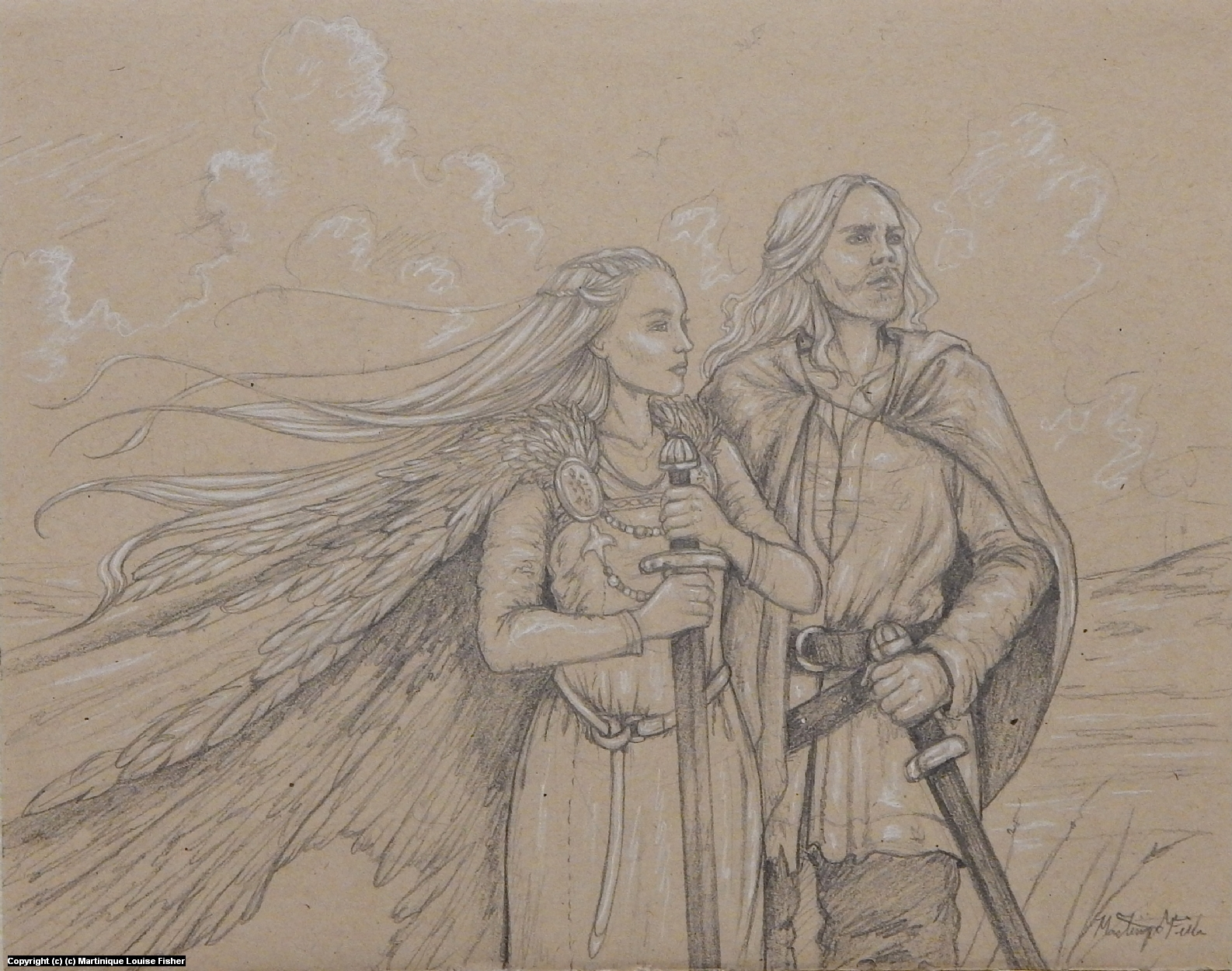 Frey and Freya Artwork by Martinique Fisher