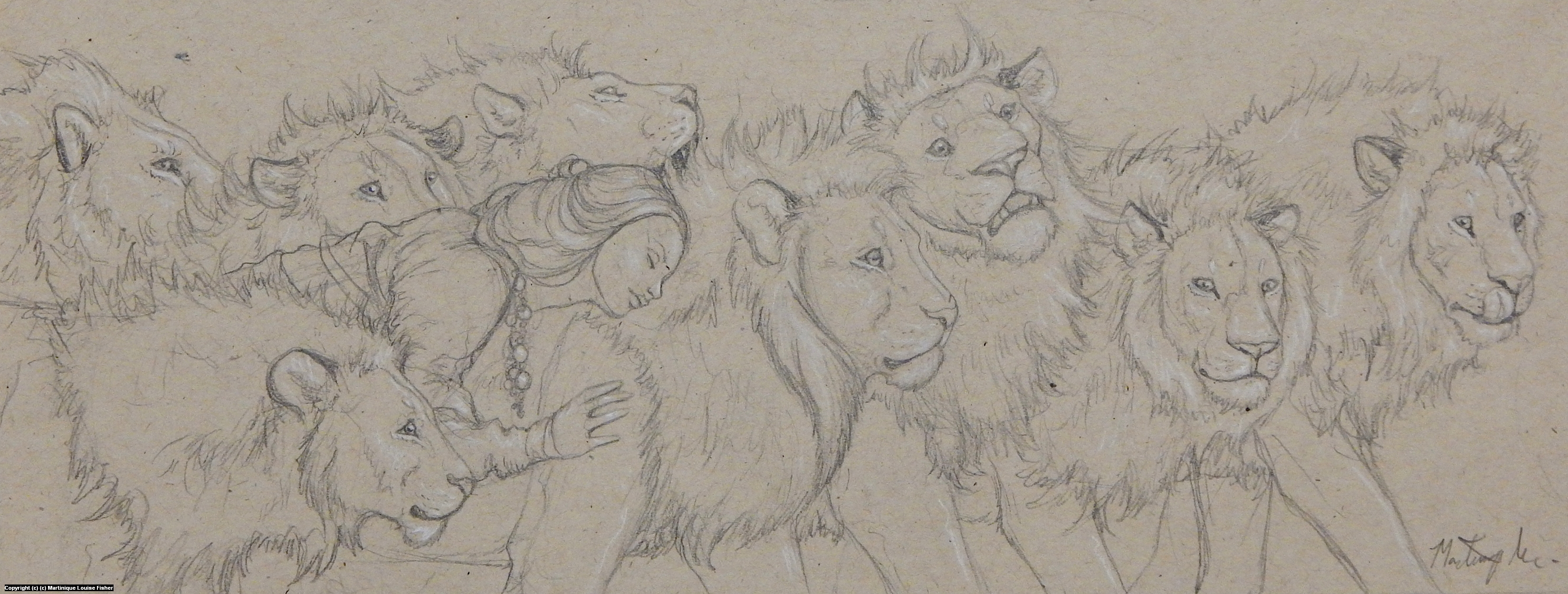 Lioness Artwork by Martinique Fisher