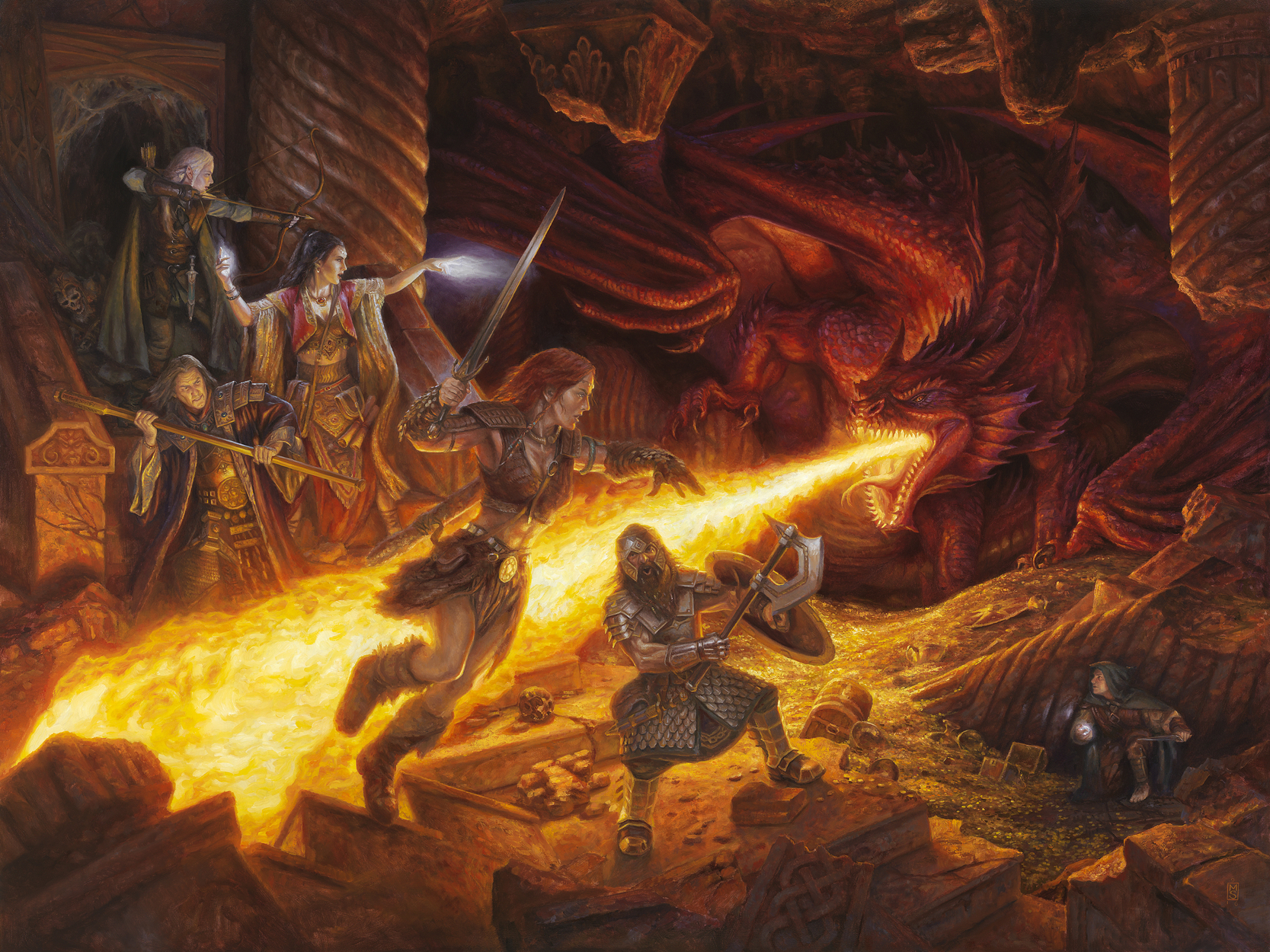 In the Lair of the Red Dragon Artwork by Matthew Stewart