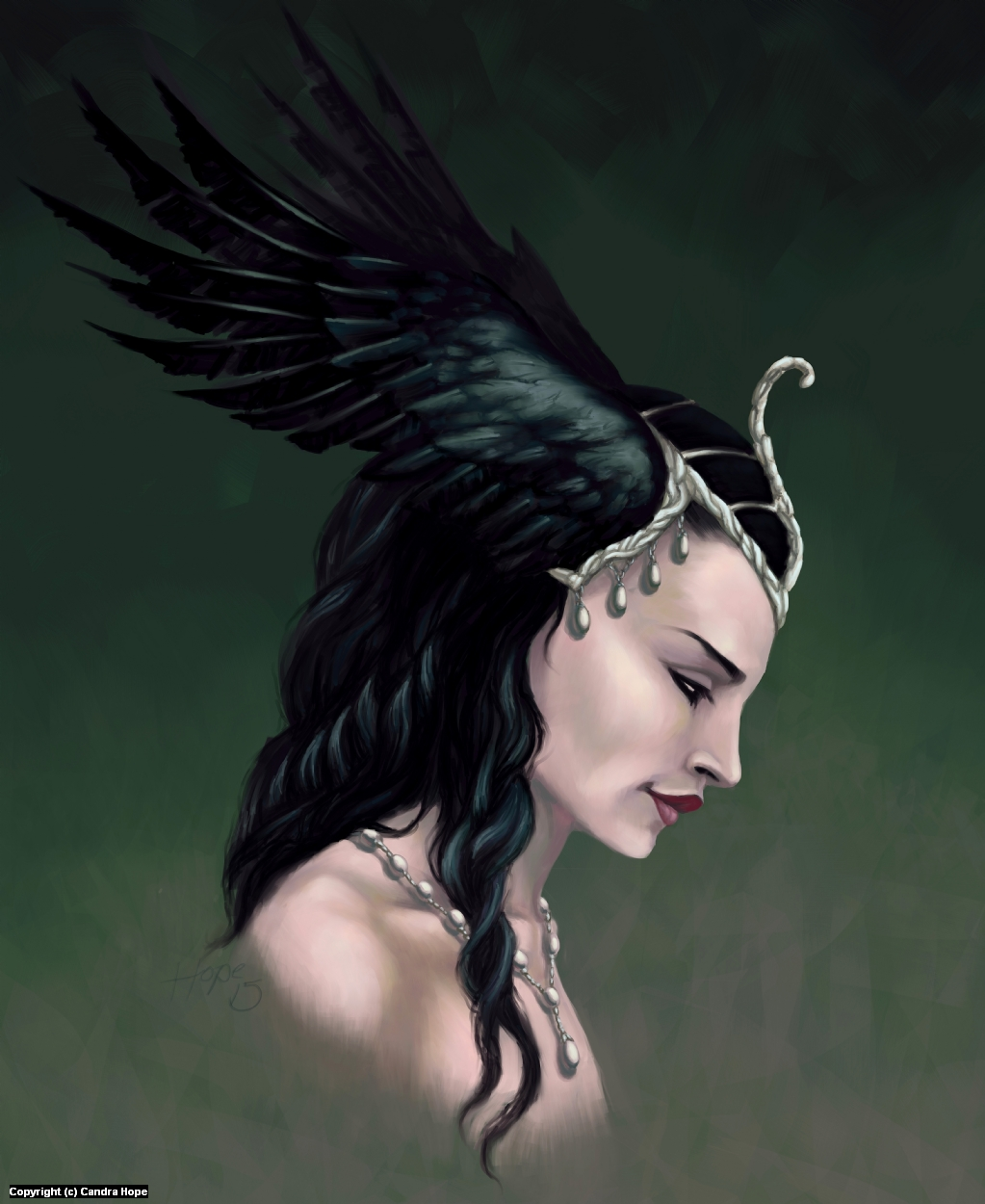 The Raven Princess Artwork by Candra Hope