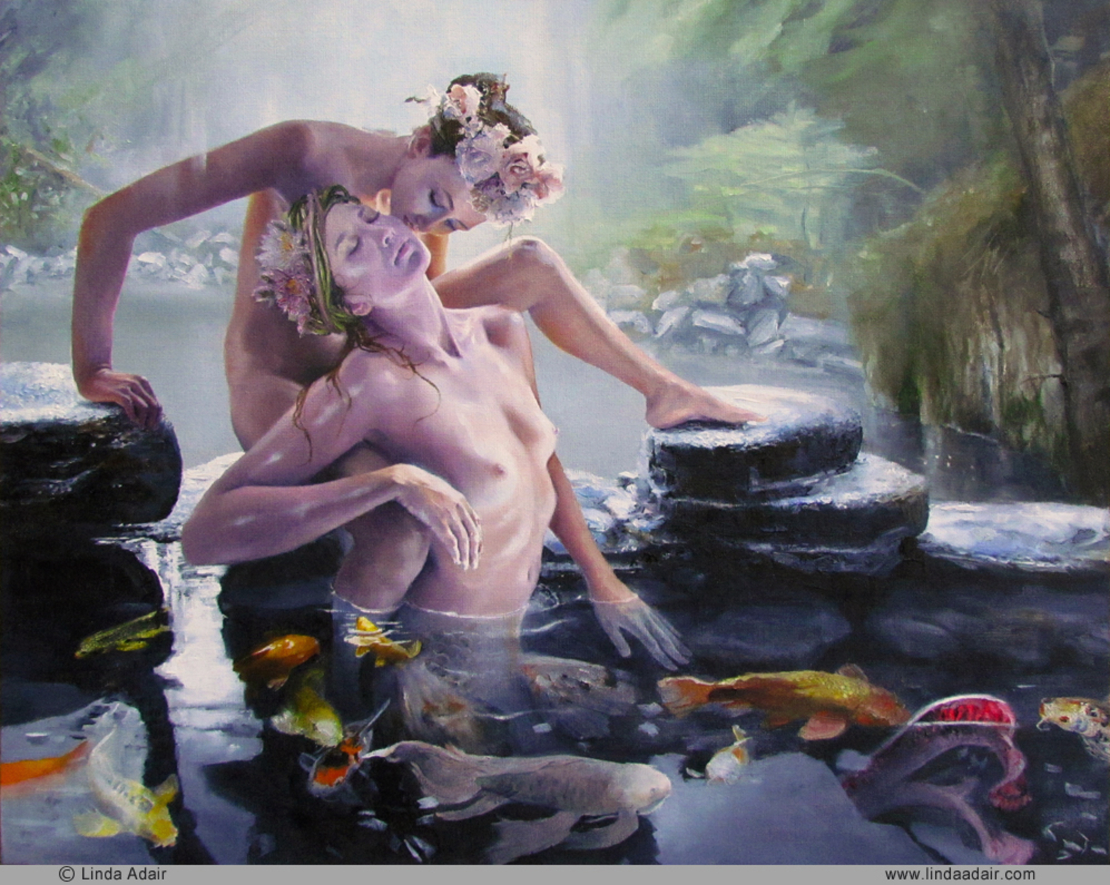 Siren and the Maiden Artwork by Linda Adair
