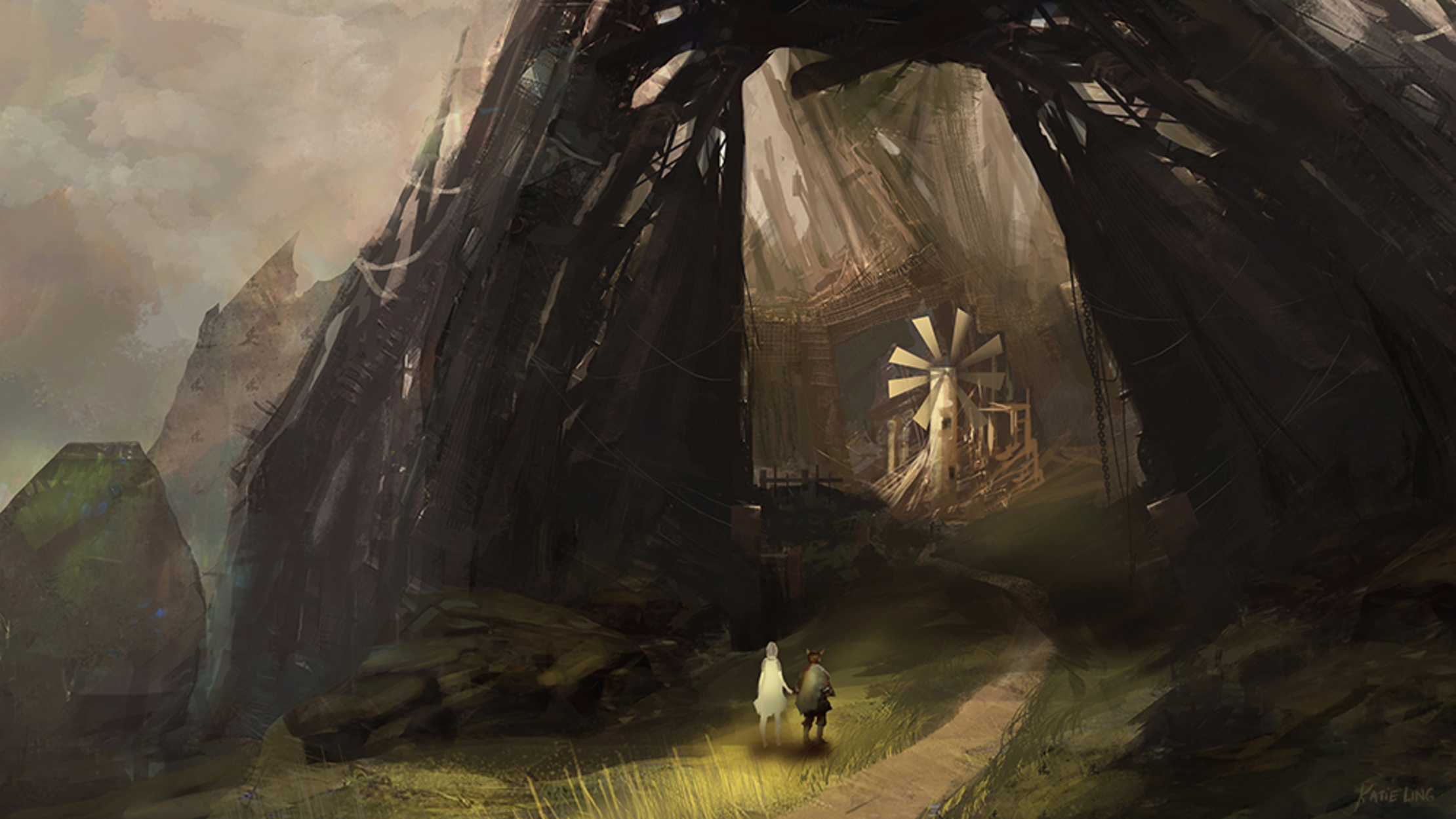 Windmill Artwork by Katie Ling