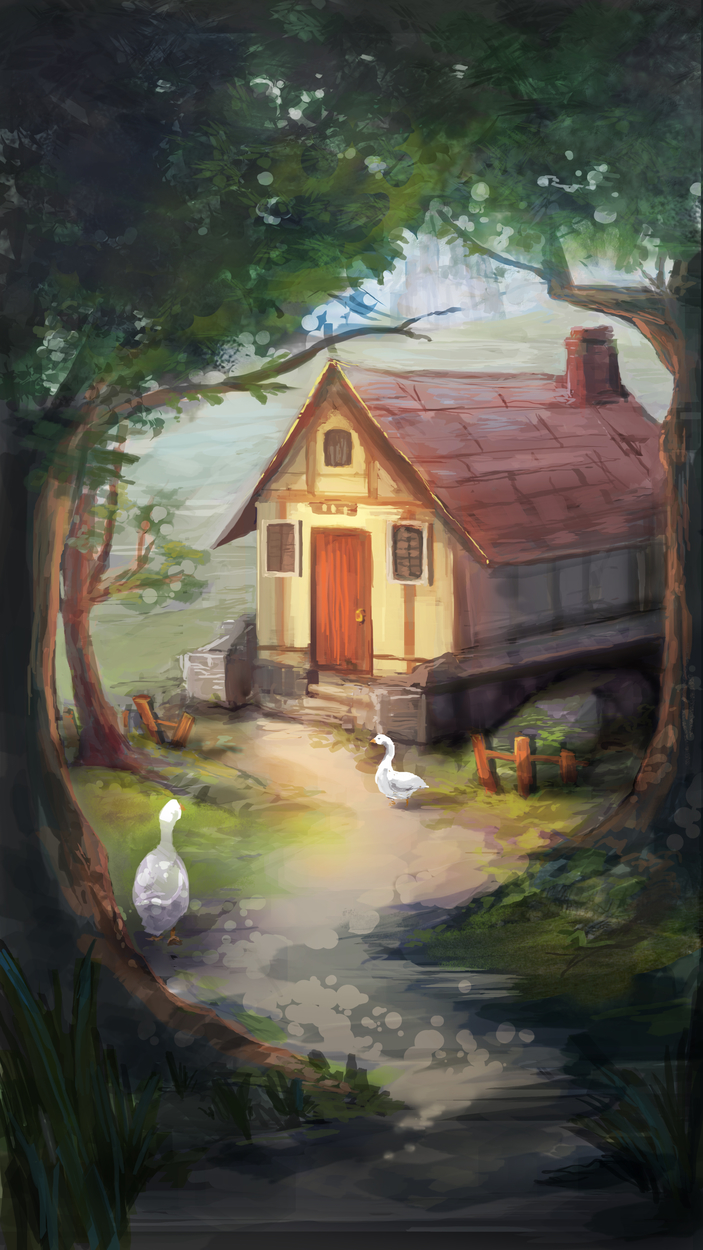 Goose Hut Artwork by Katie Ling