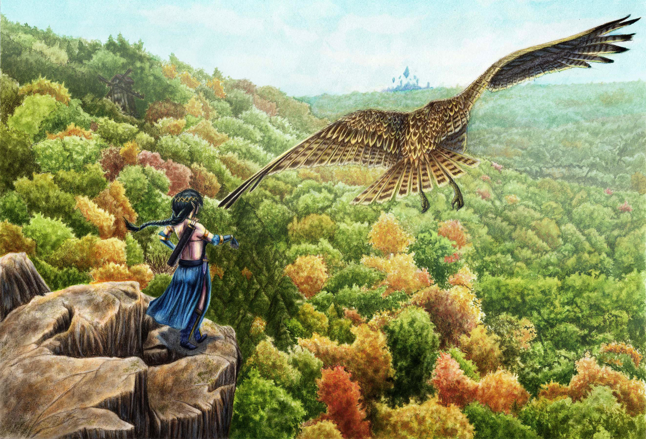 Forest Overlook Artwork by Zachary Bacus