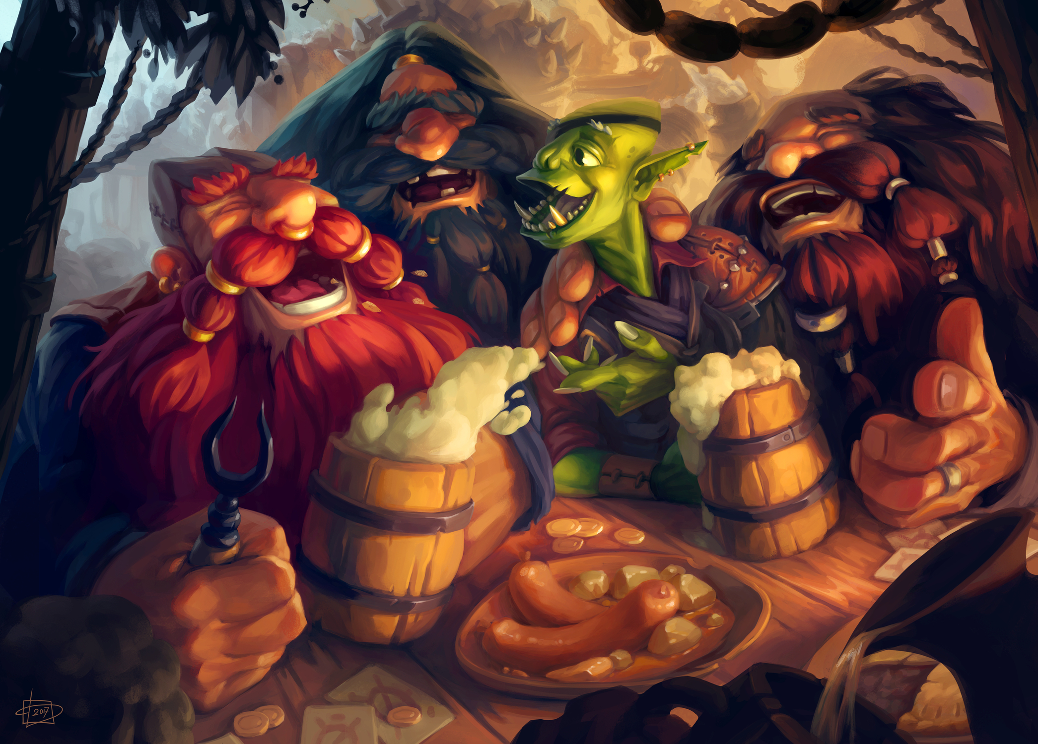 Once Upon a Time in the Tavern Artwork by Polina Mozgovaya