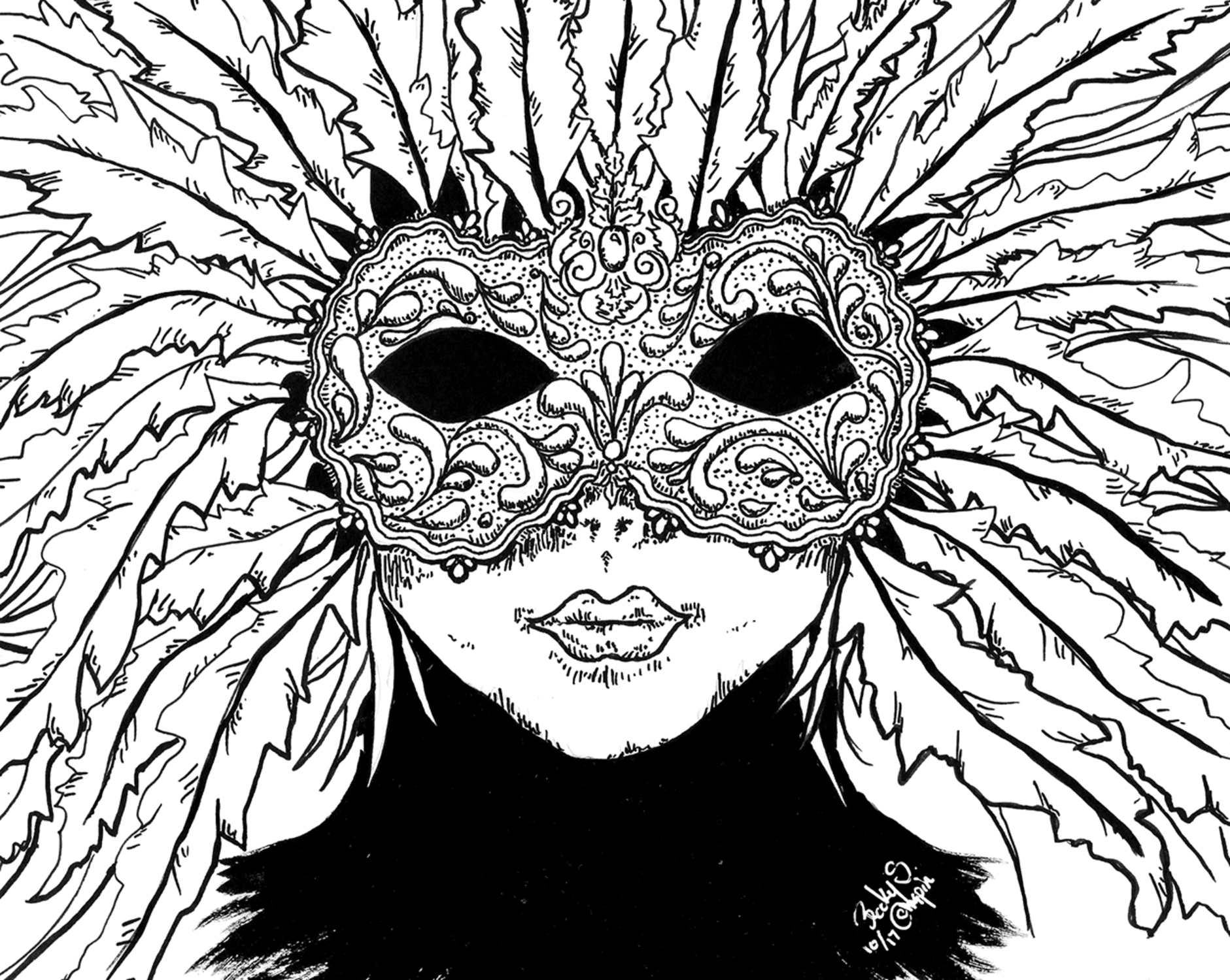 The Masked Buyer Artwork by Becky S Chapin