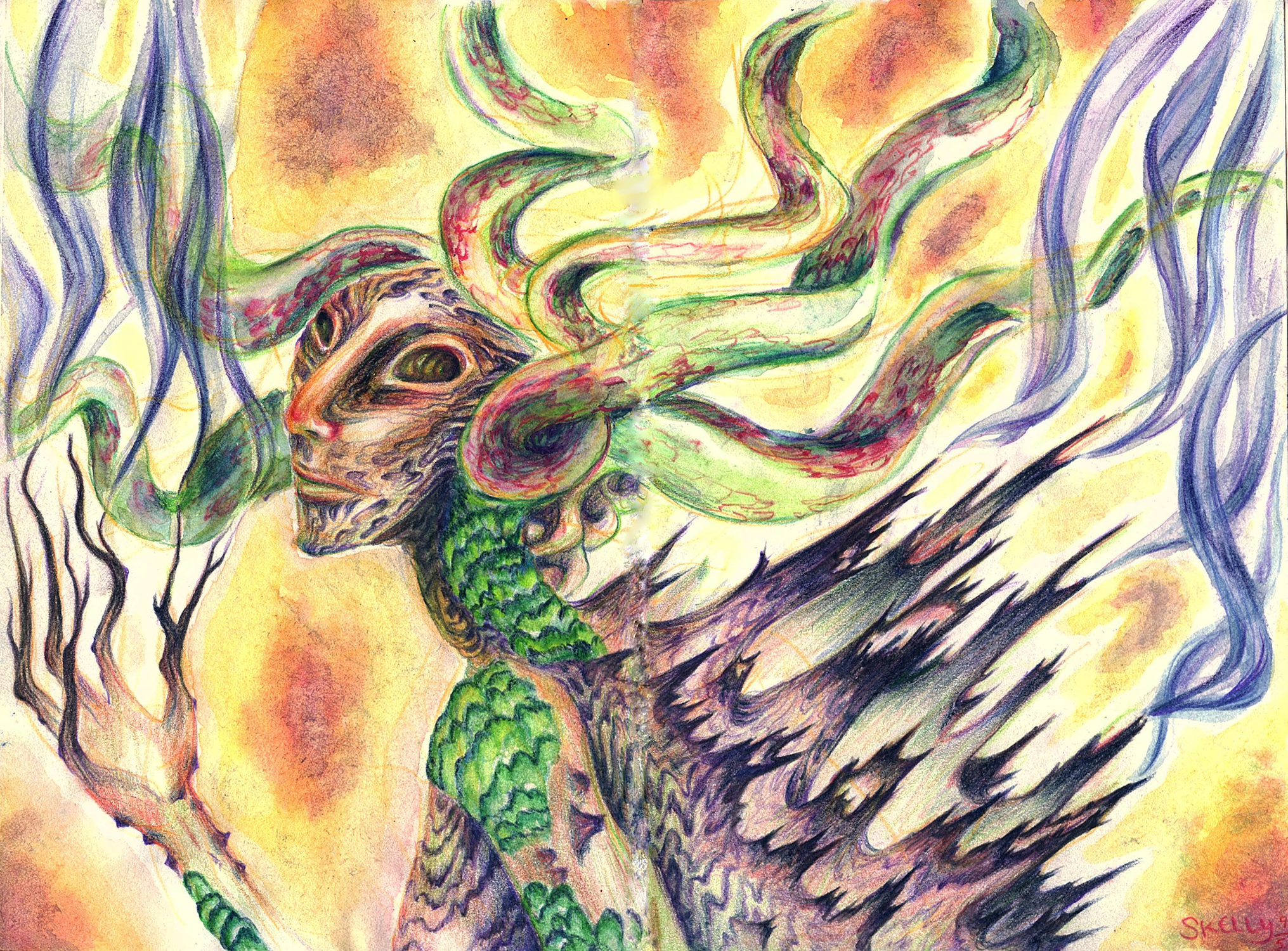 Forest Guardian Artwork by Christine Skelly