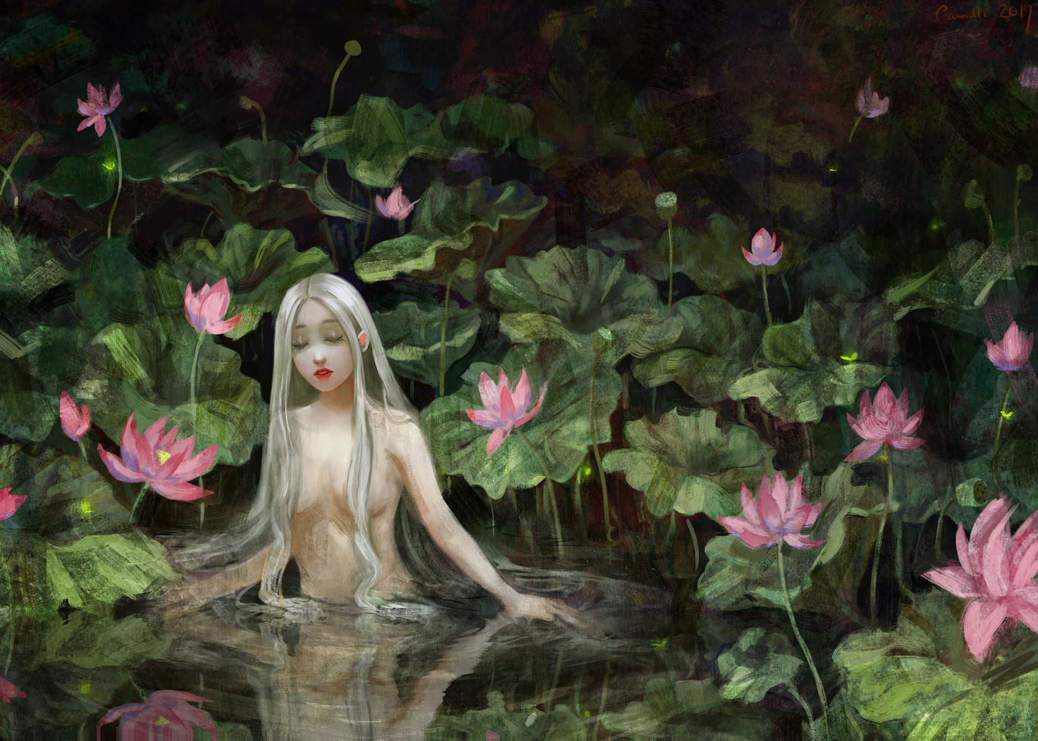 Lotus Artwork by Camille Marie