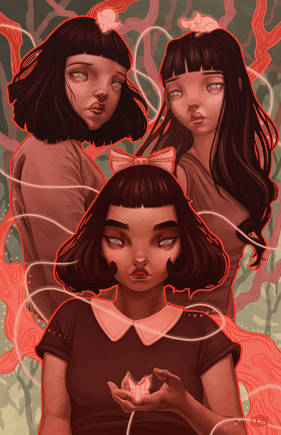 Three Blind Sisters Artwork by Erica Willey
