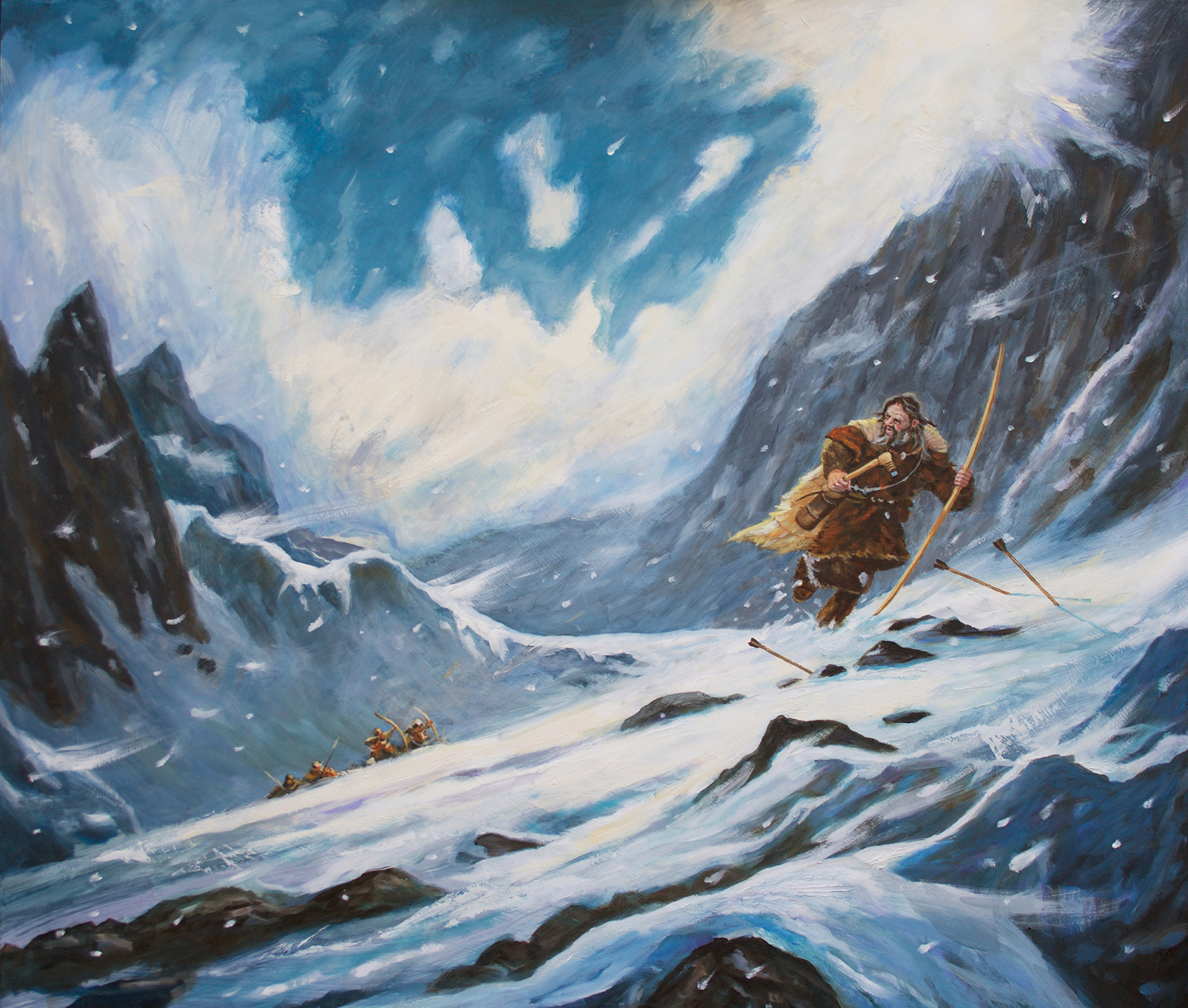 Otzi the Iceman Artwork by Brian McElligott