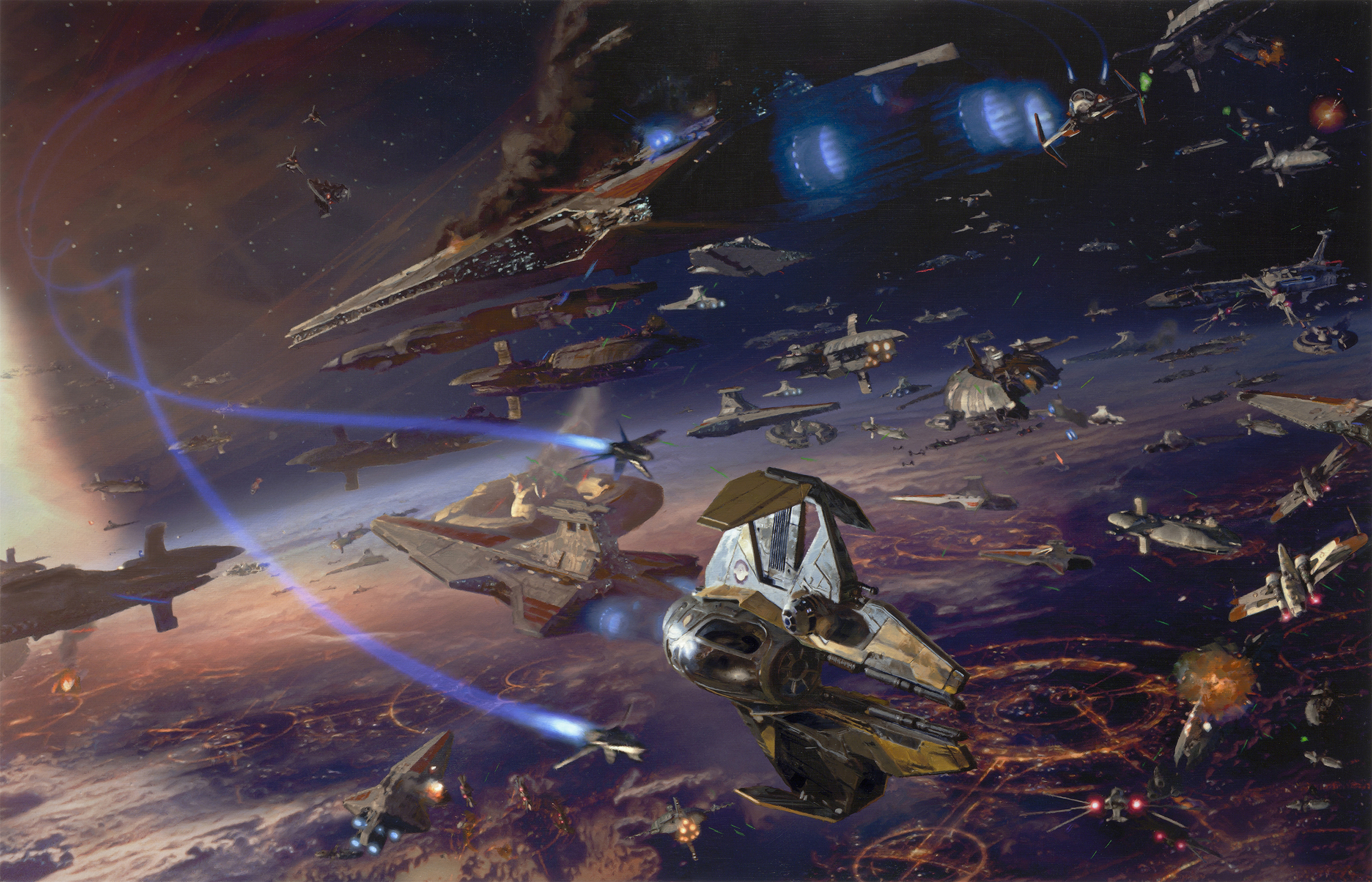 Star Wars:  The Battle of Coruscant Artwork by Dave Seeley