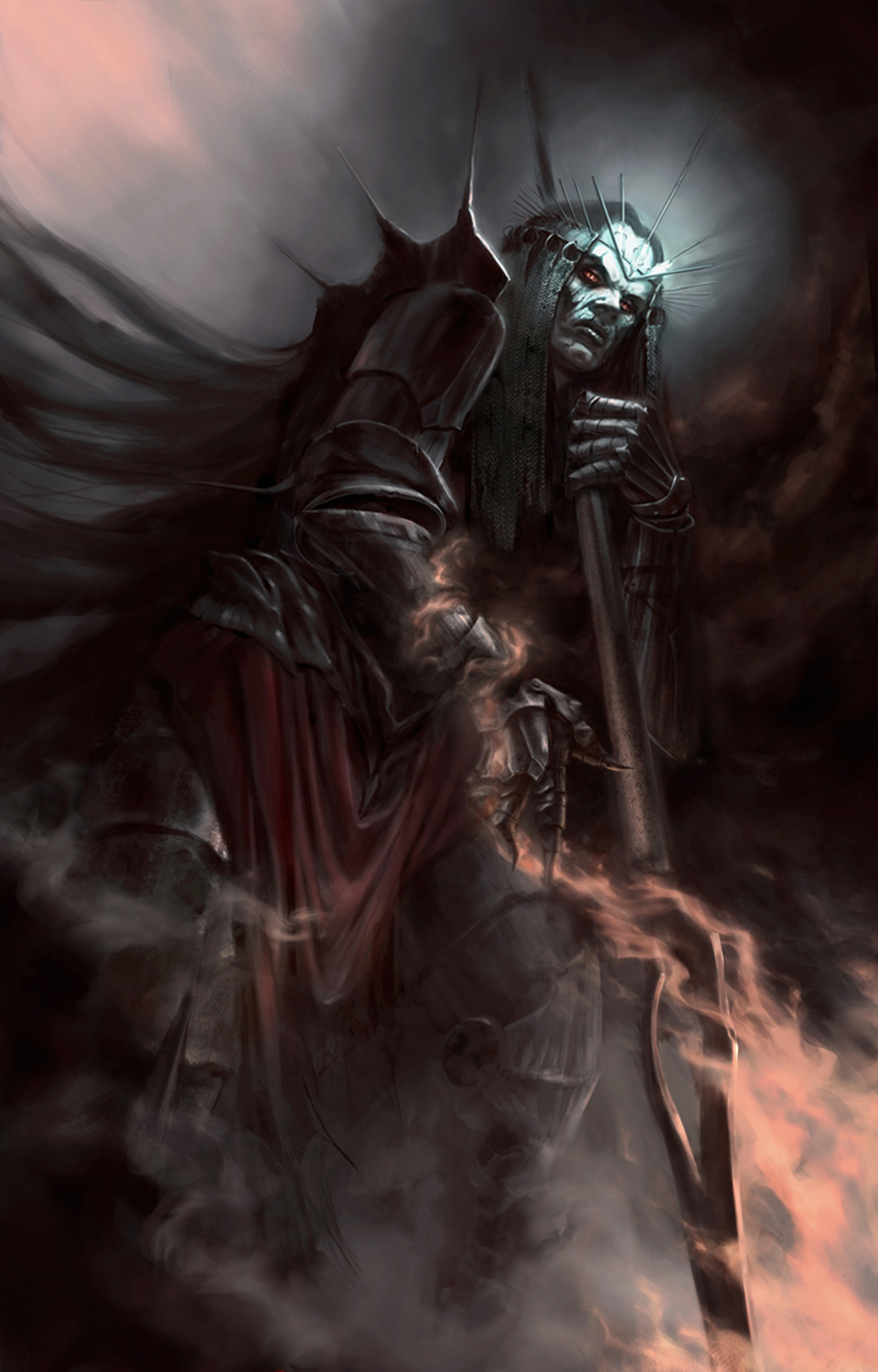Morgoth, He Who Arises in Might Artwork by Dymond Starr Boutte'