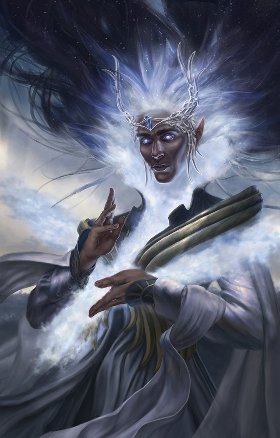 King Manwë, of the world and the Breath of Arda! Artwork by Dymond Starr Boutte'