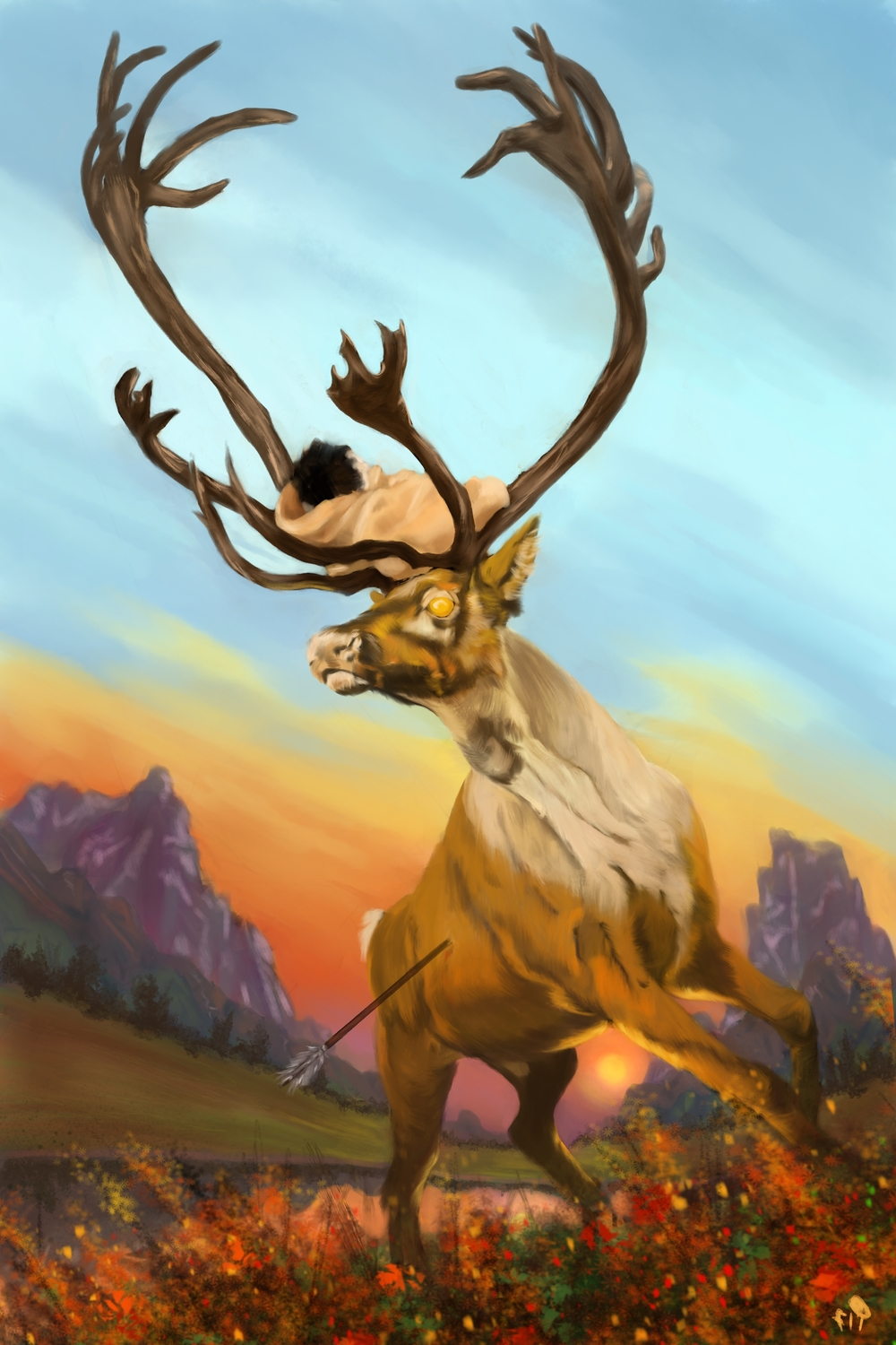 The Golden Stag Artwork by Patrick Stacy