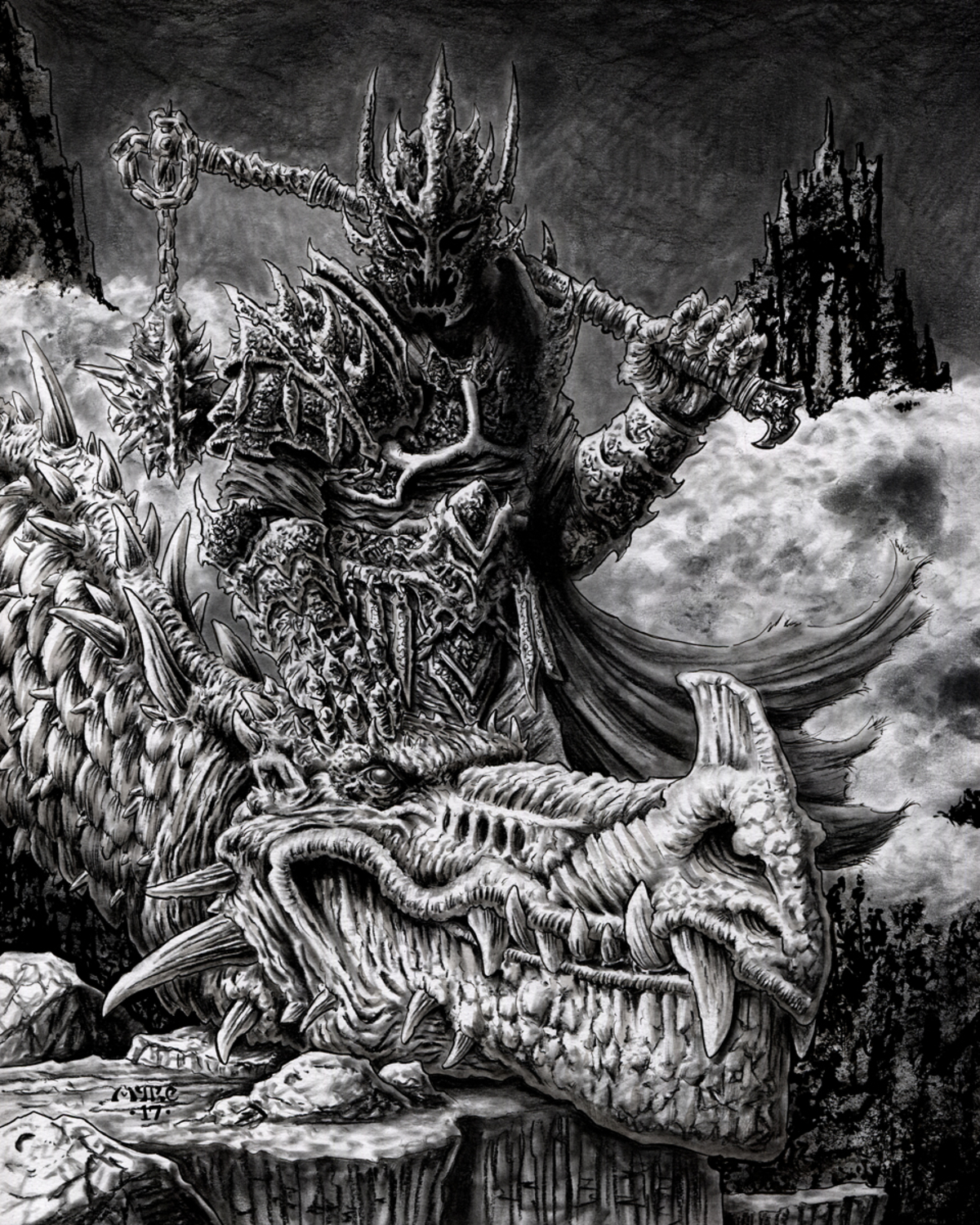 Witch King Artwork by Michael Rechlin