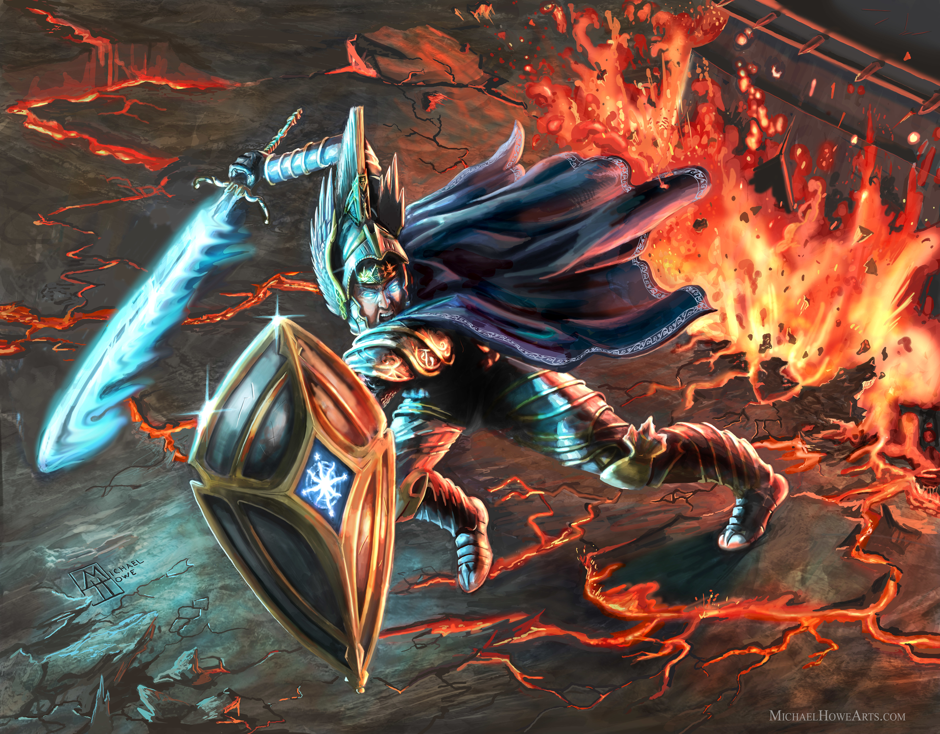 Fingolfin Before Morgoth Artwork by Michael Howe