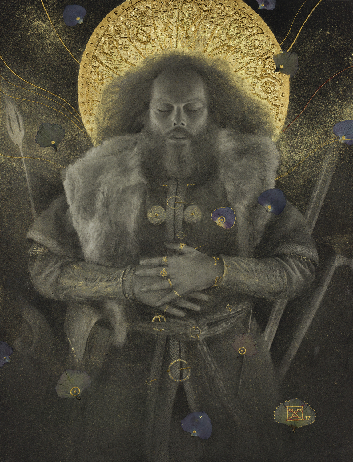 Beowulf - Beowulf's Funeral Artwork by Yoann Lossel