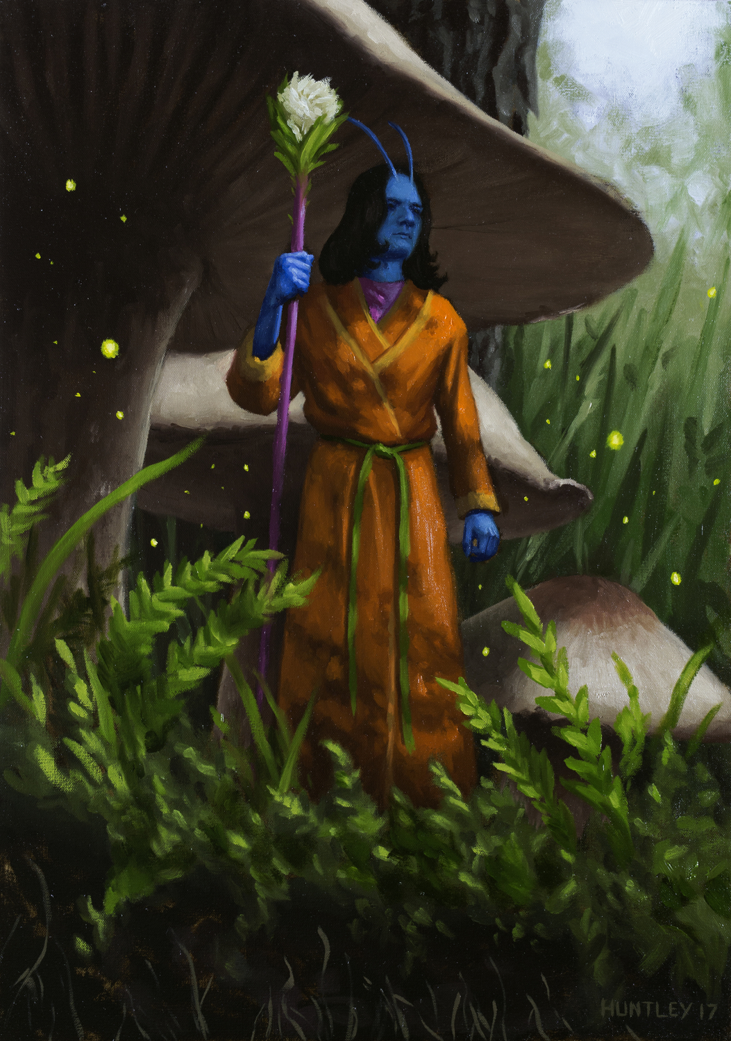 The Fairy King Surveying His Dominion Artwork by Matthew Huntley