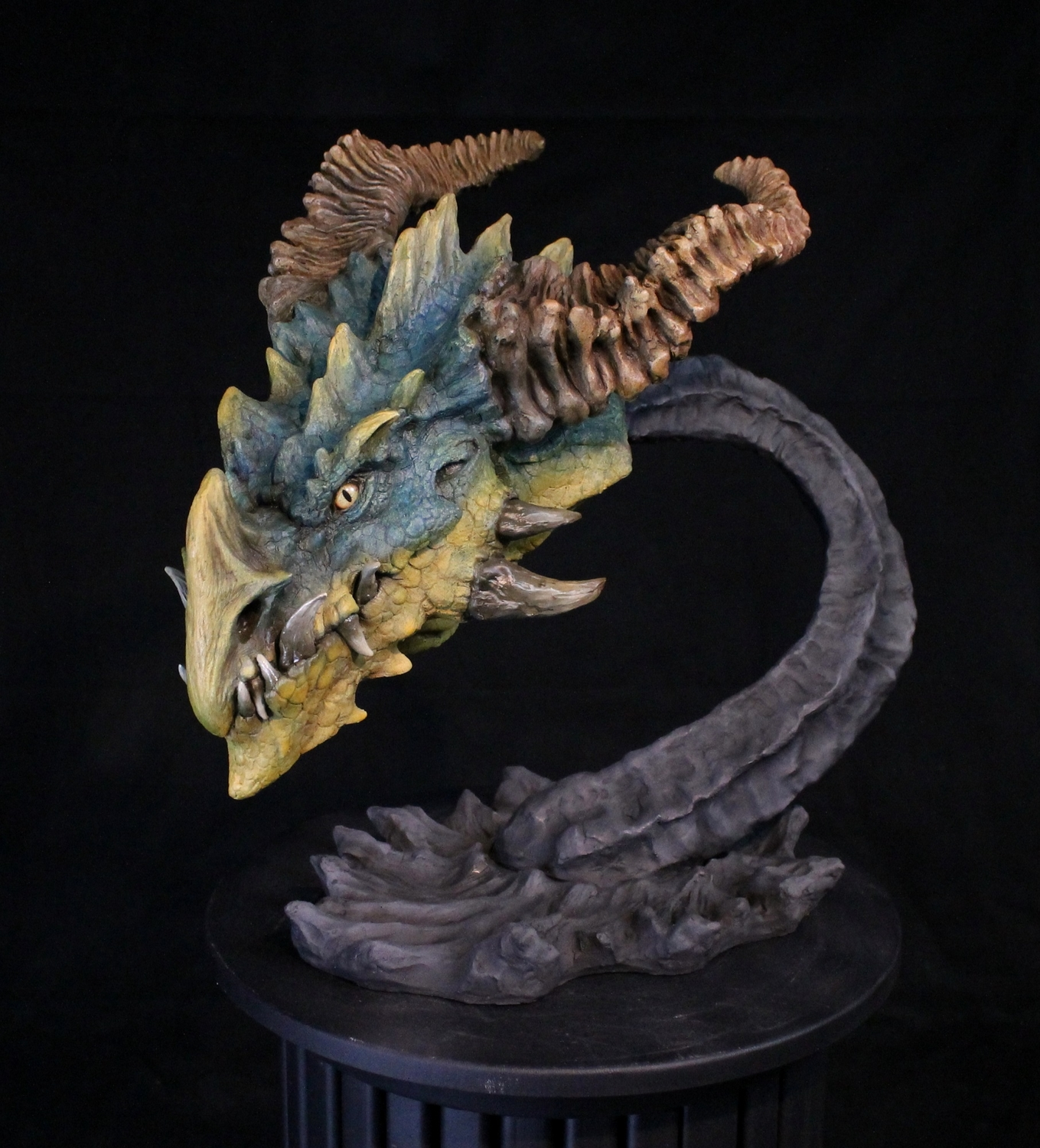 Dragon Bust Artwork by Arend Smith