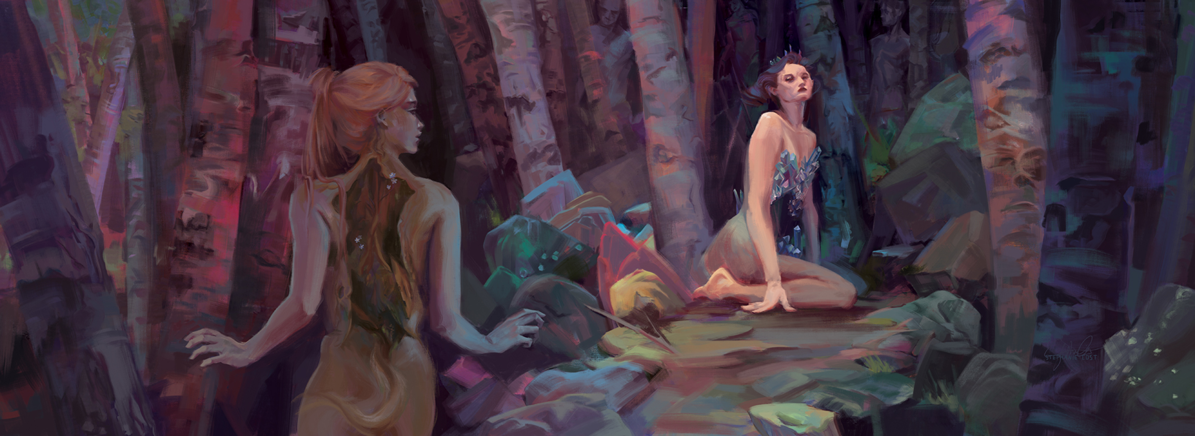Huldra And The Crystal Queen Artwork by Stephanie Cost