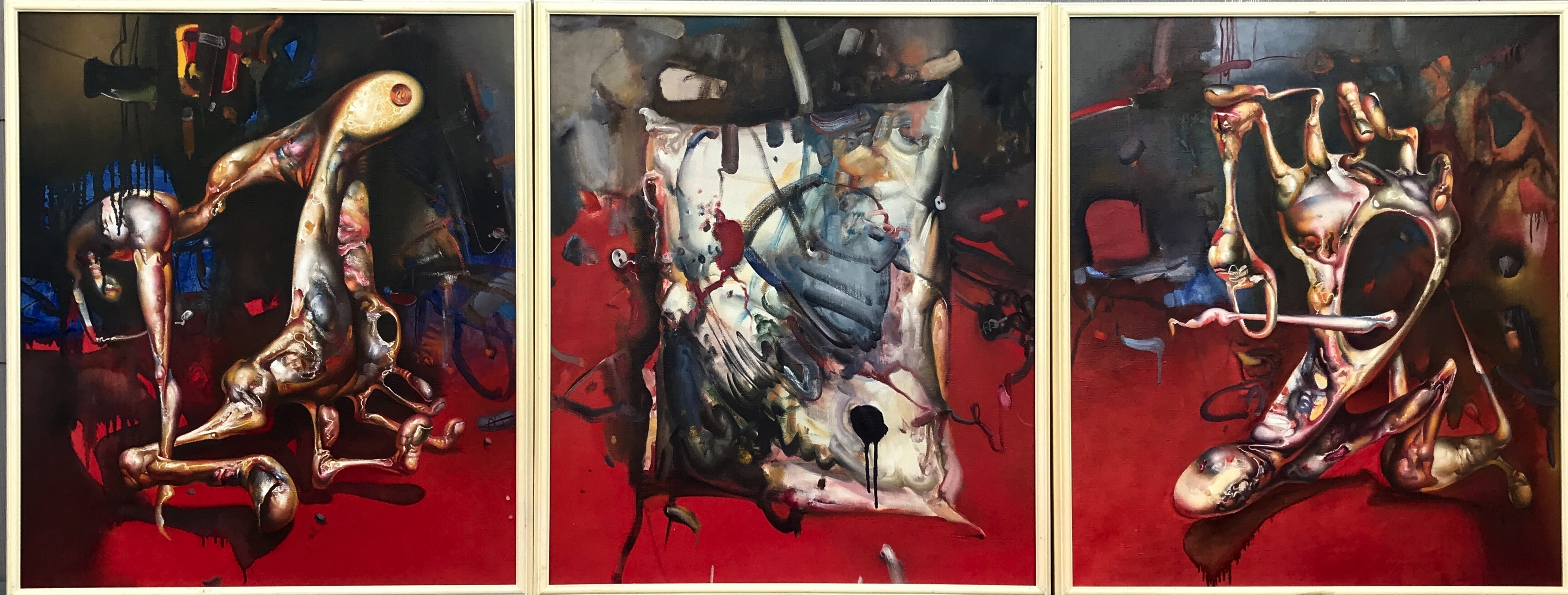 That's it for today (triptych) Artwork by Antanas Adomaitis