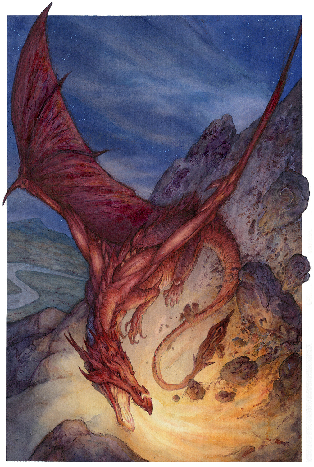 Smaug the Destroyer Artwork by David Wenzel