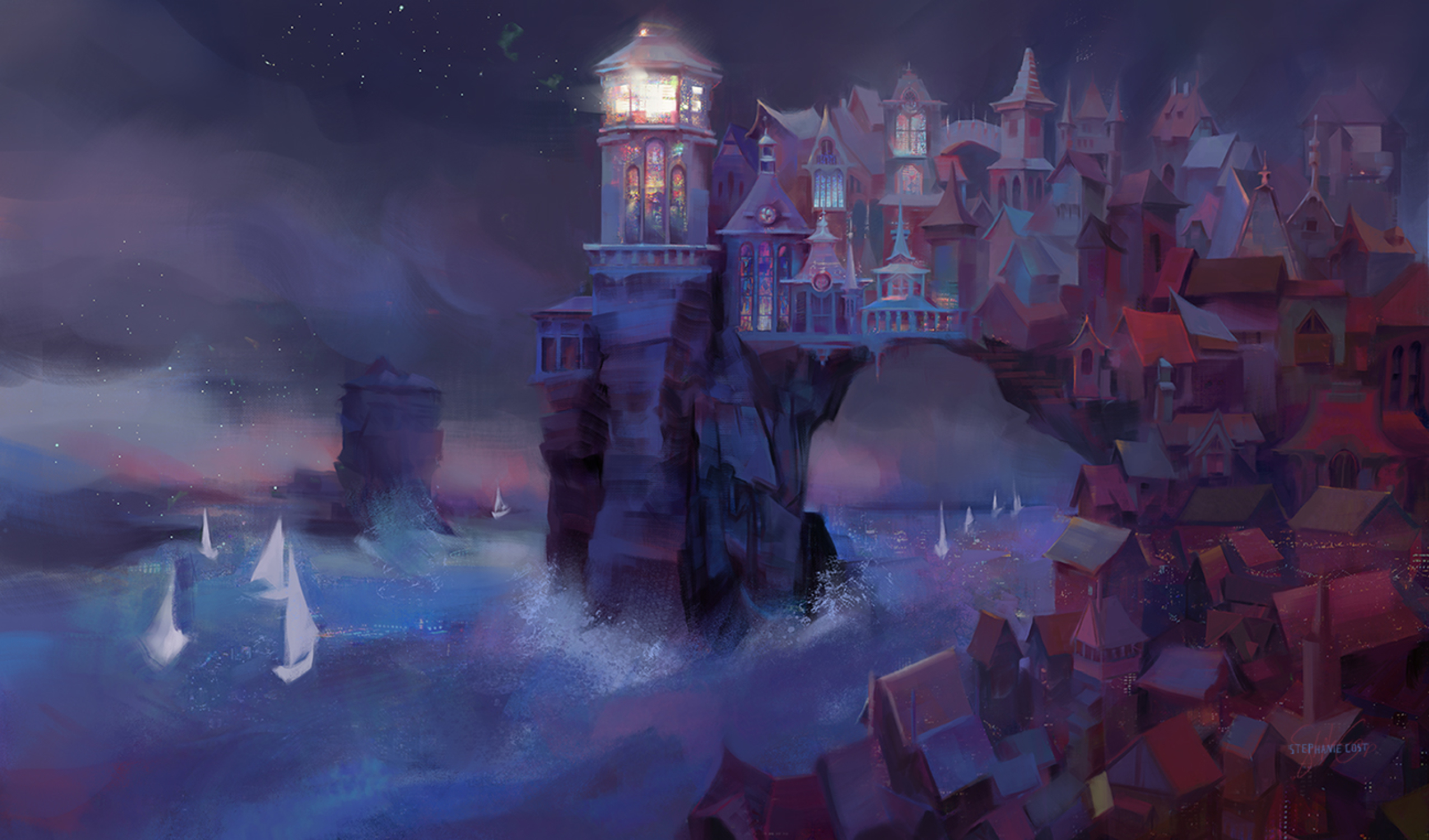 Lorawin, City of Light Artwork by Stephanie Cost