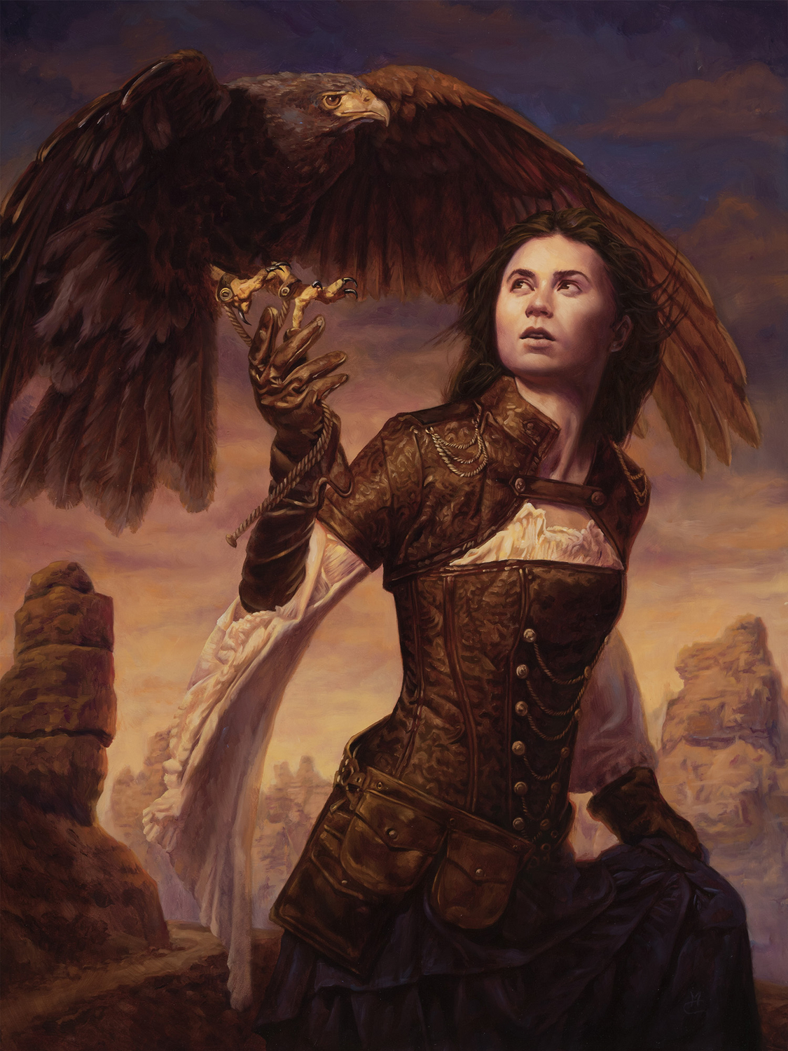 Huntress of the Sky Artwork by Michael C. Hayes