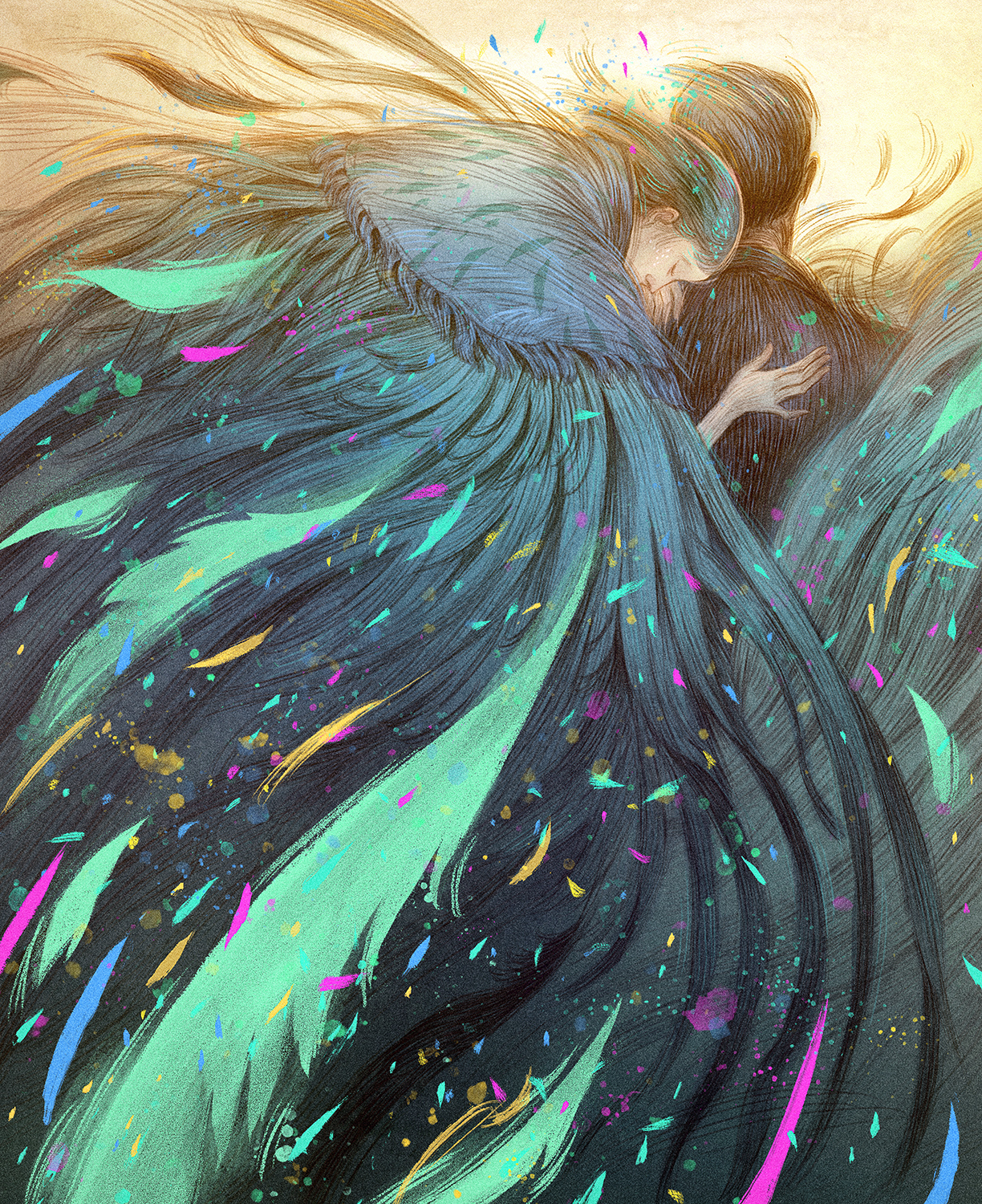 Feathers Artwork by Rovina Cai