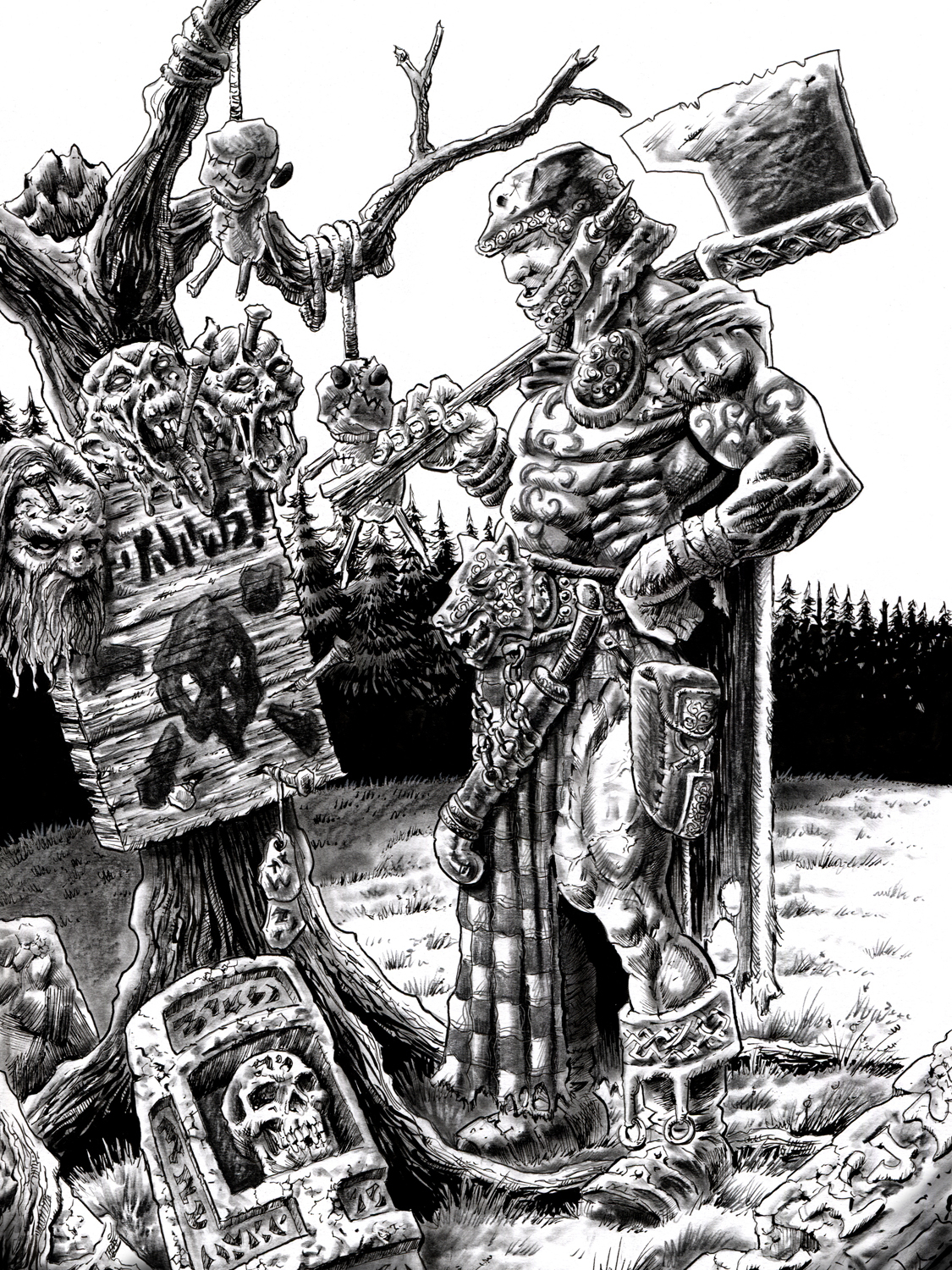 Witchlands Warning- Blood & Ashes Artwork by Michael Rechlin