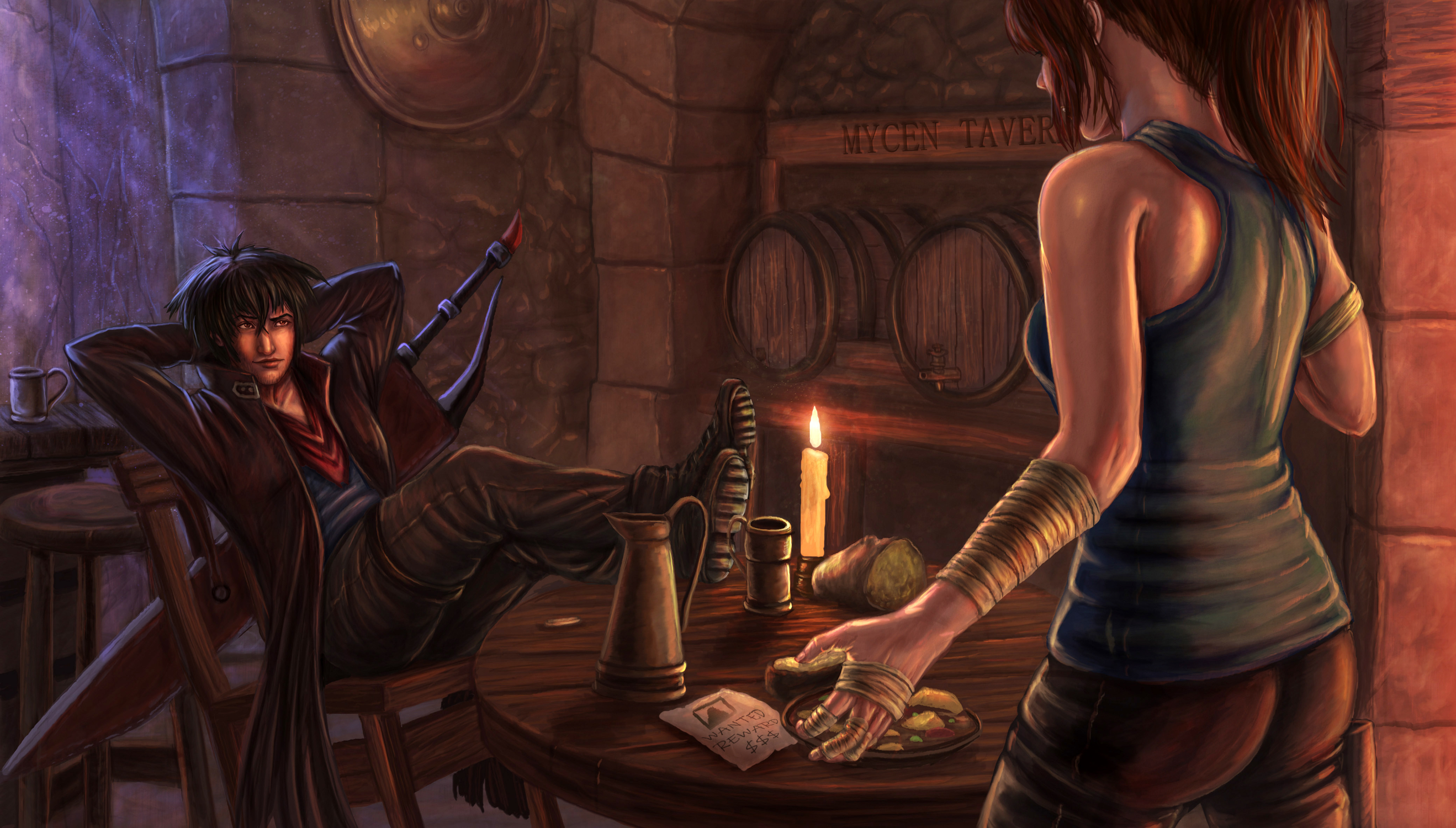 Tavern Argument  Artwork by Zachary Bacus