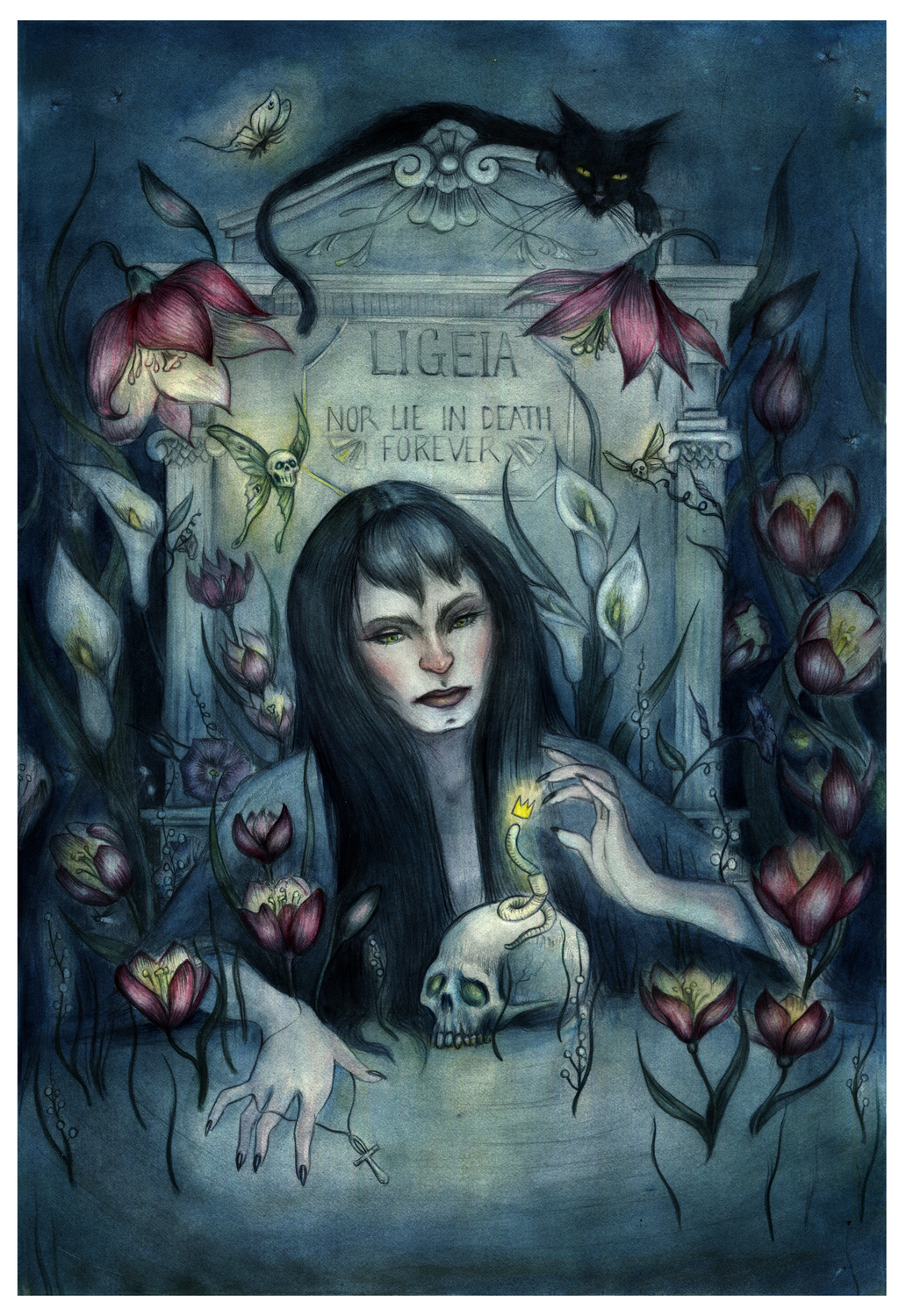 Ligeia and the conqueror worm Artwork by tanya finder