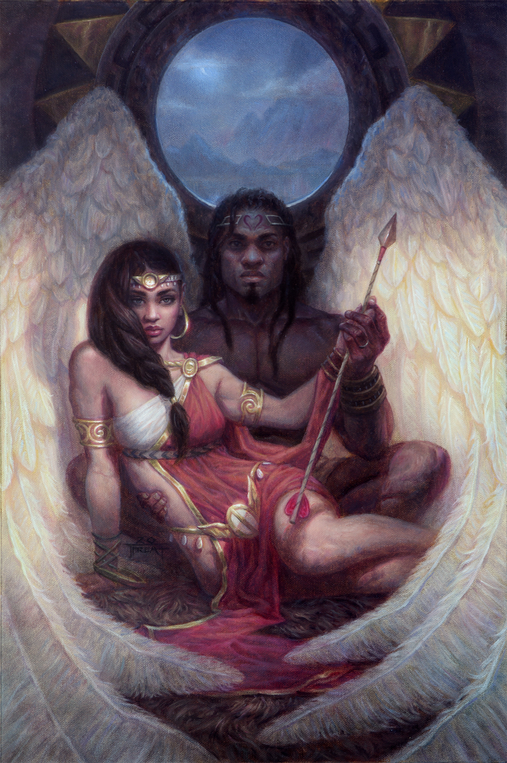 Eros and Psyche Artwork by Jarel Threat