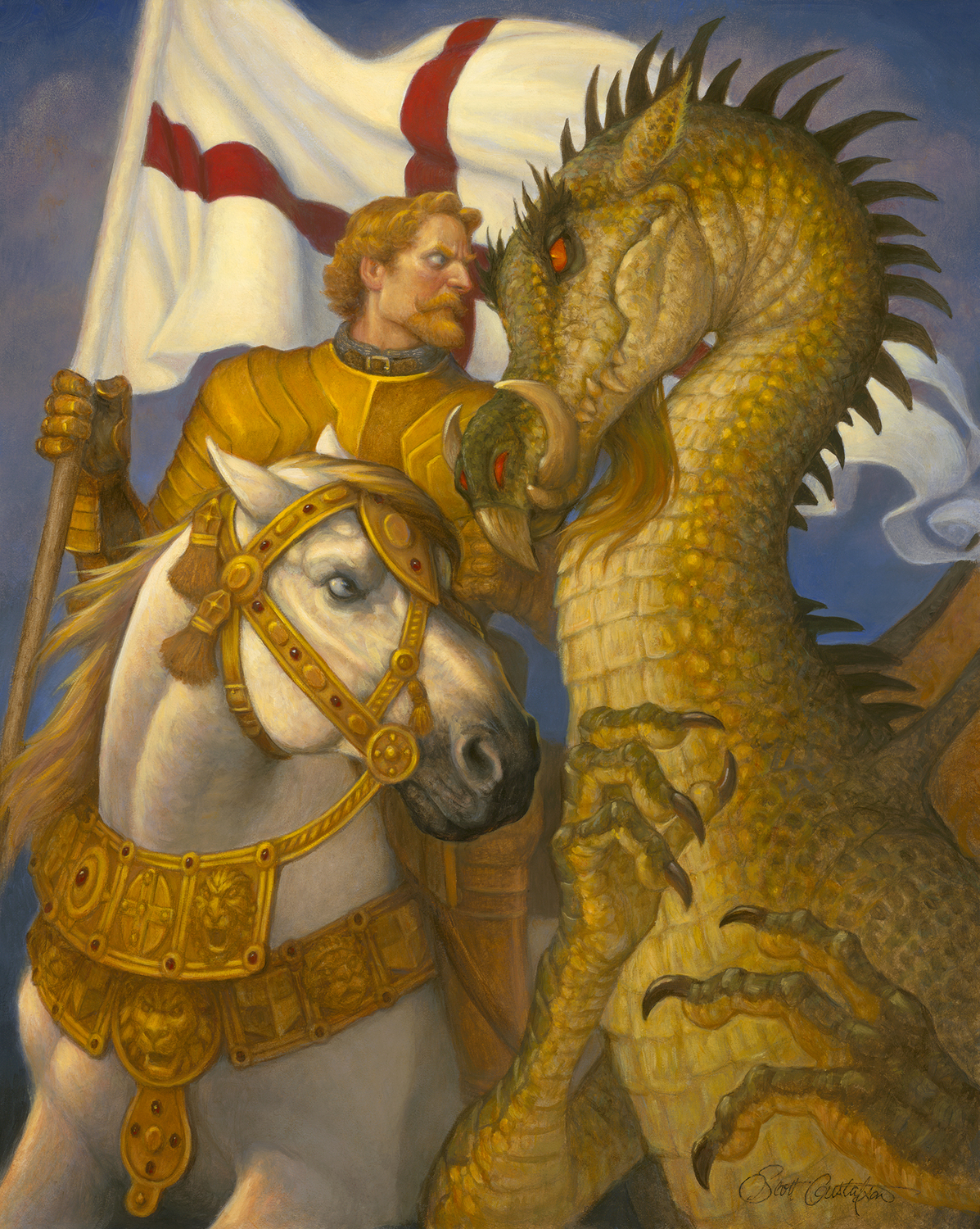 St. George and the Dragon Artwork by Scott Gustafson